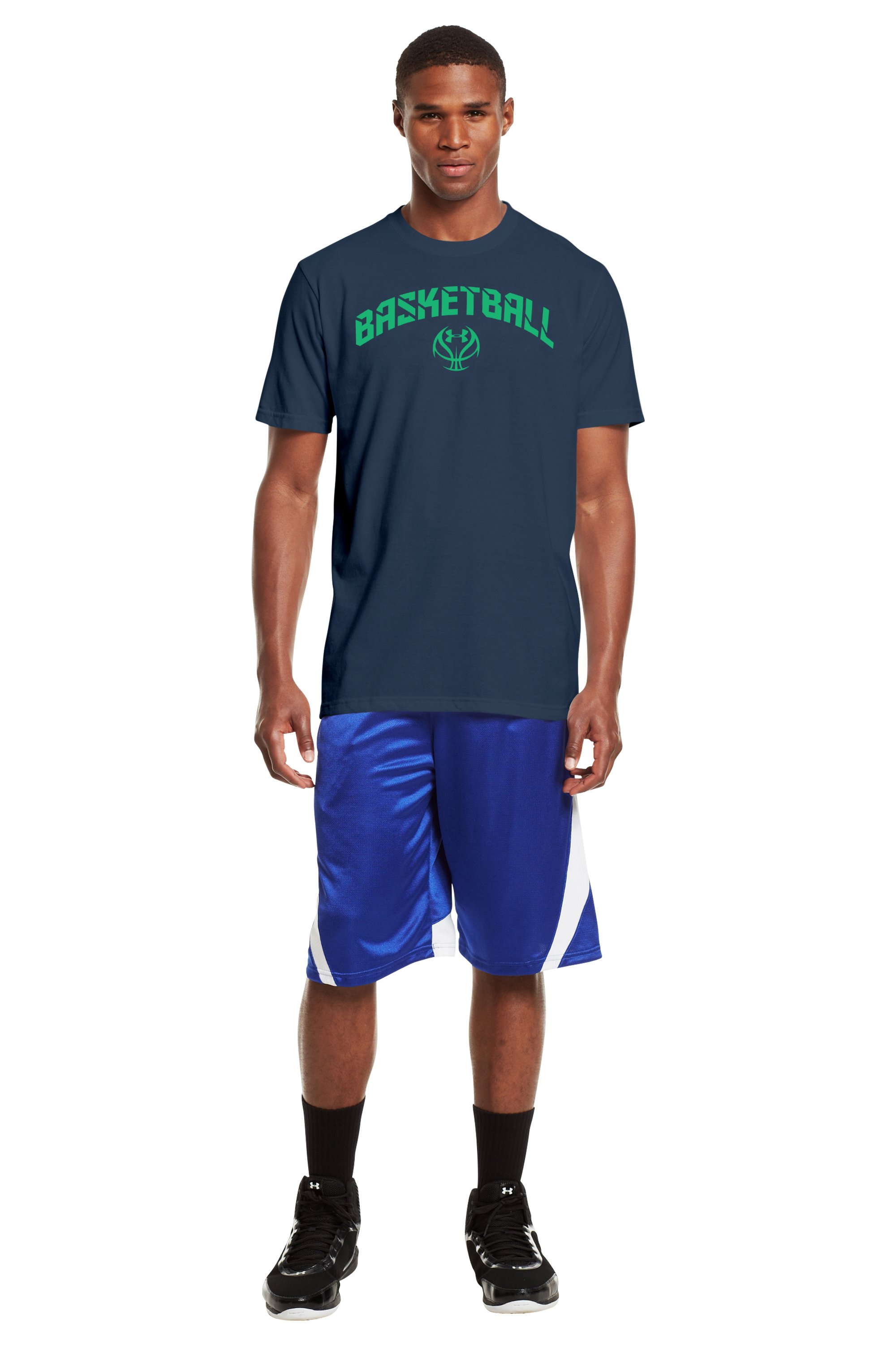 Men's UA Basketball T-Shirt, Wire, zoomed image