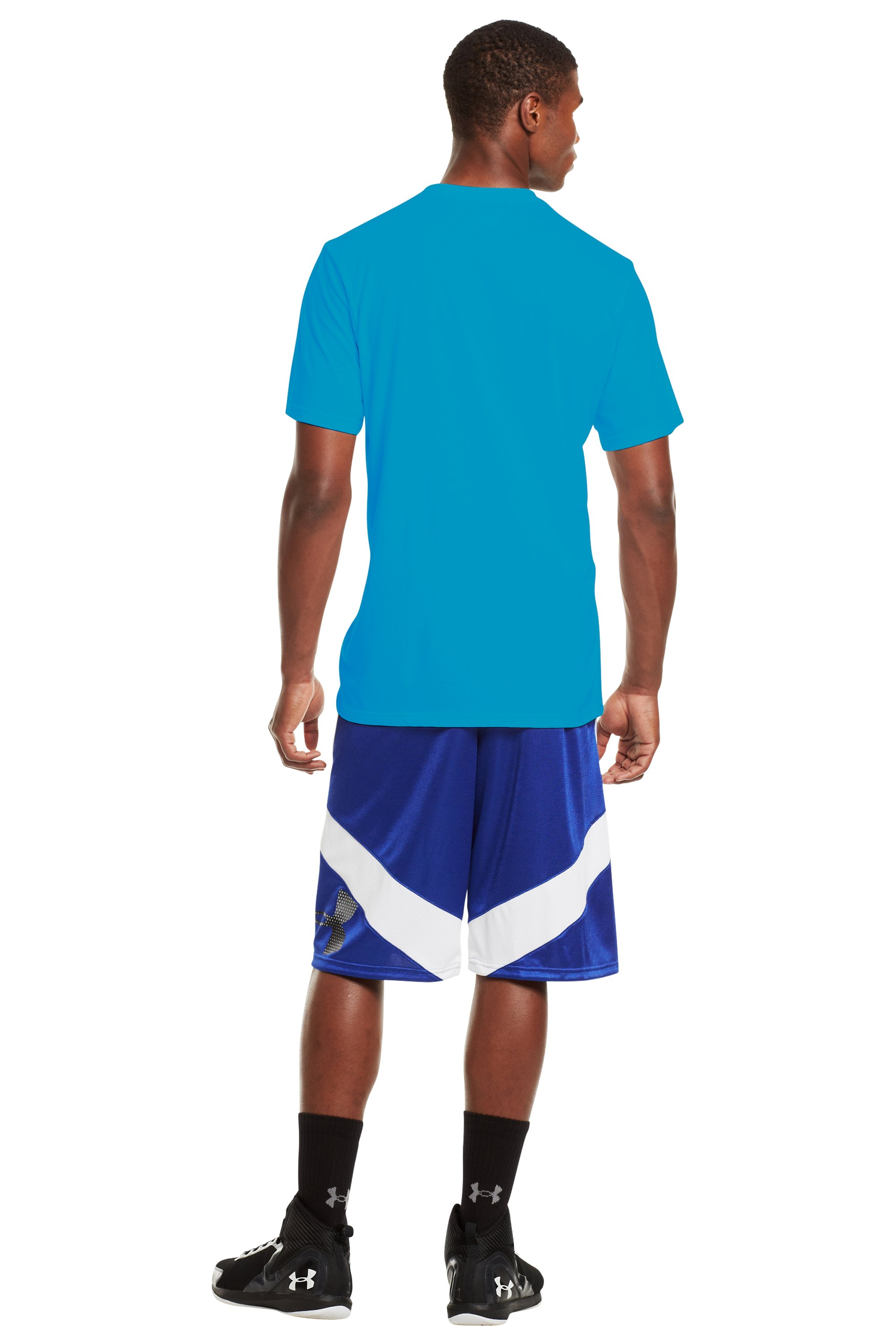 Men's UA Basketball T-Shirt, PIRATE BLUE, Back
