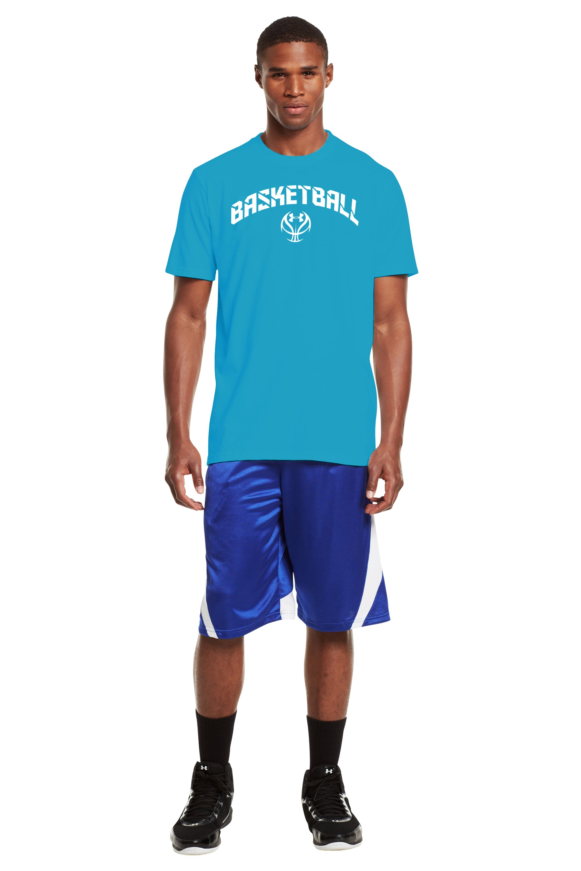 Men's UA Basketball T-Shirt, PIRATE BLUE, Front