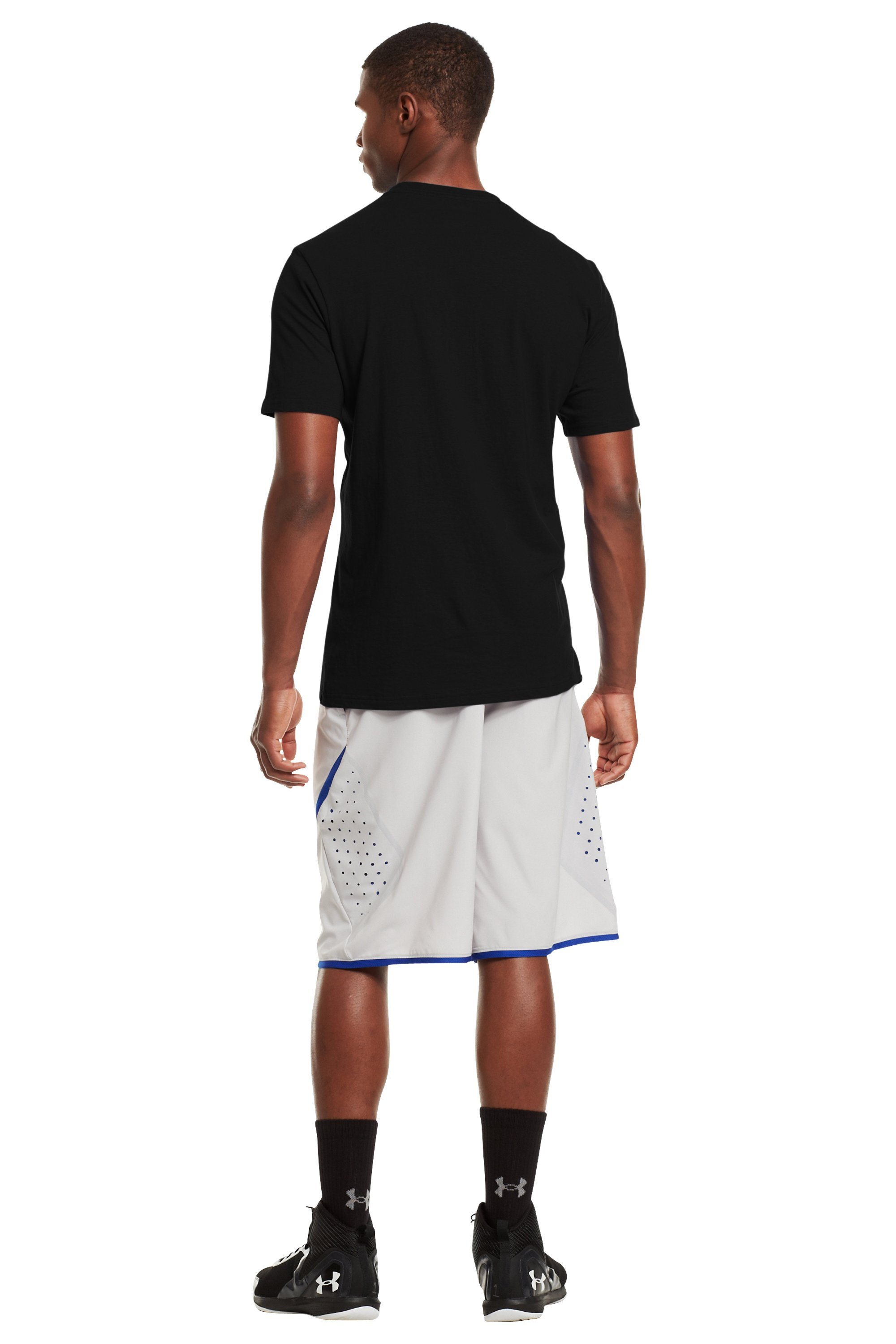 Men's UA Basketball Icon T-Shirt, Black , Back