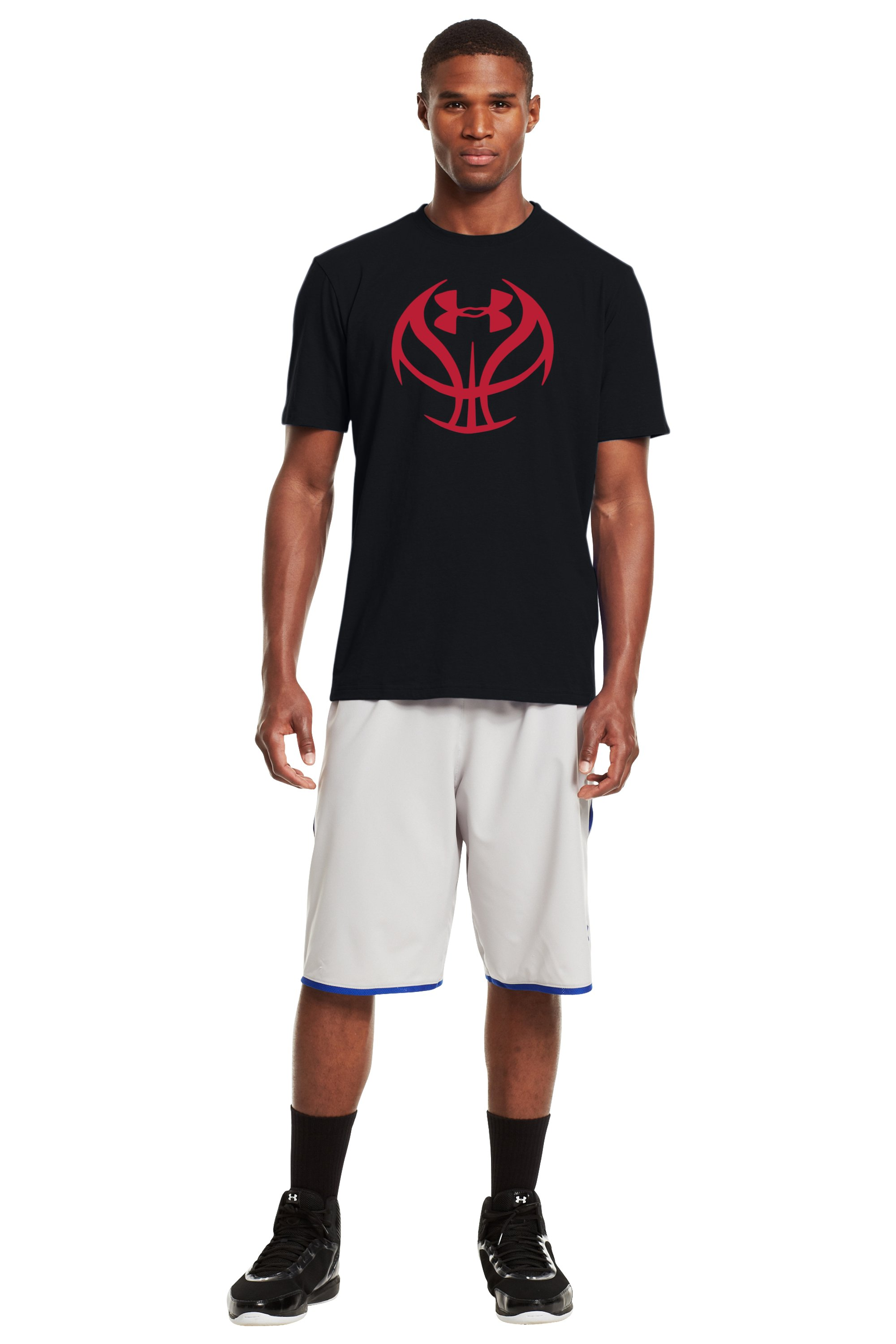 Men's UA Basketball Icon T-Shirt, Black , Front
