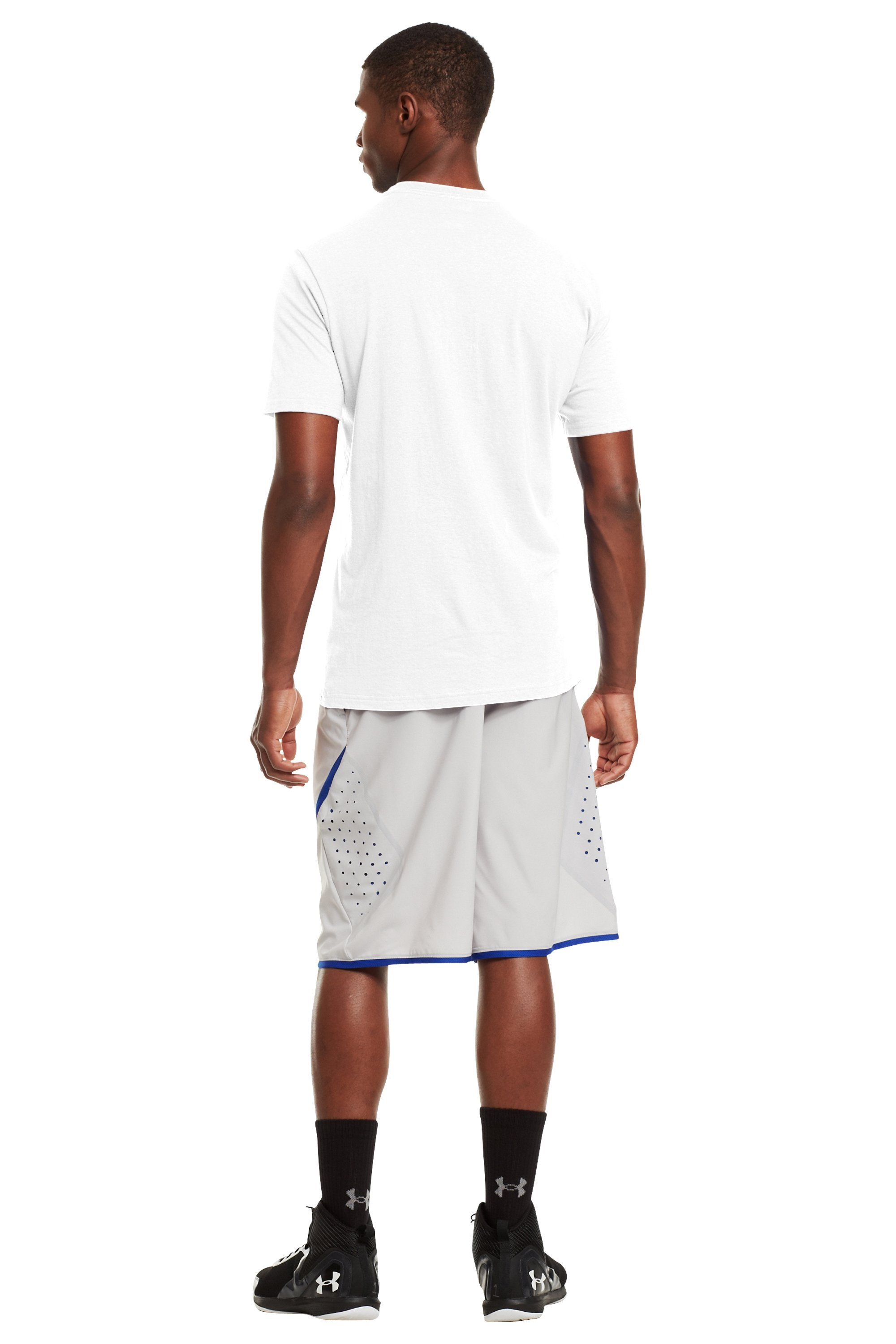 Men's UA Basketball Icon T-Shirt, White, Back