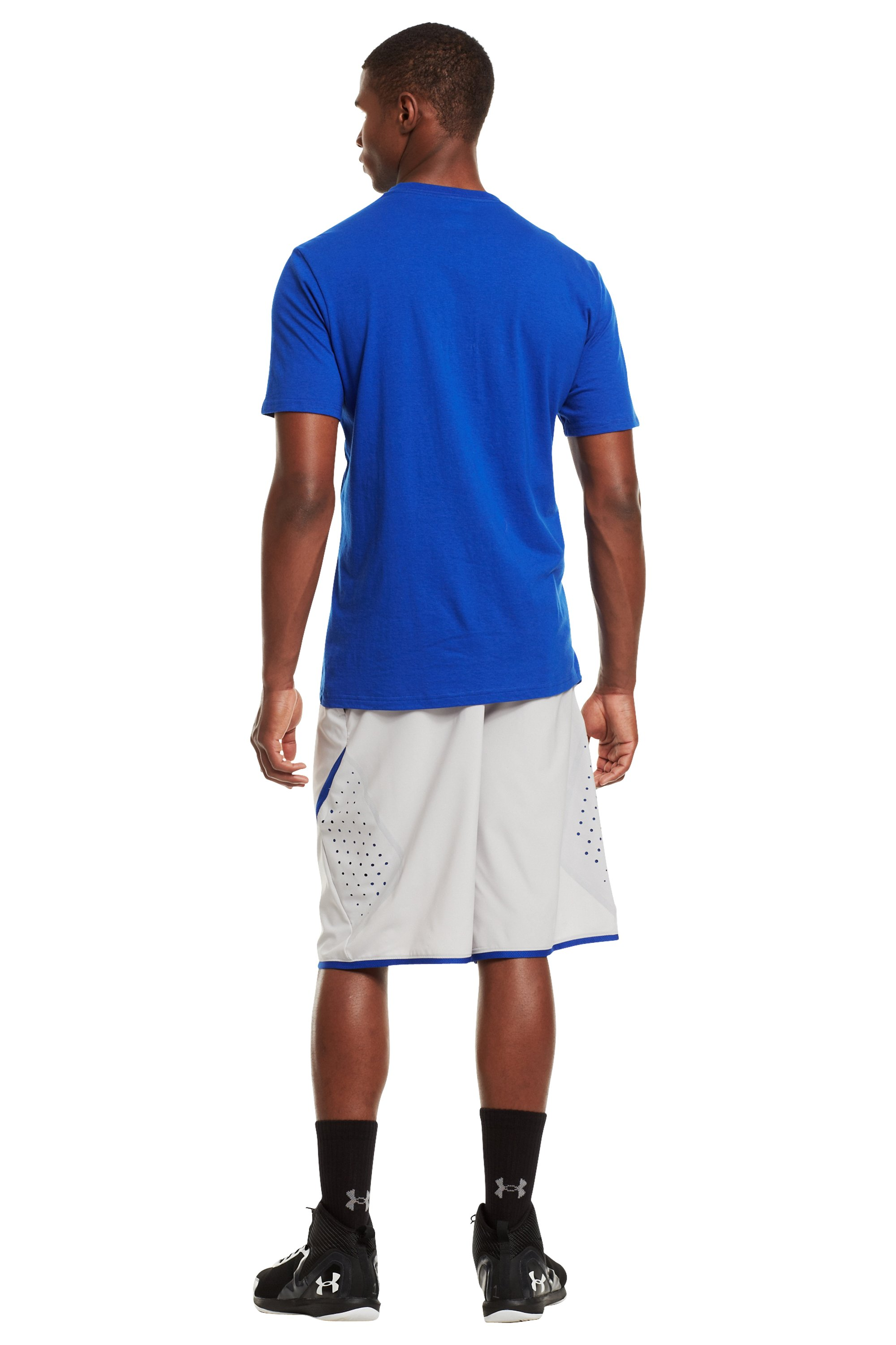 Men's UA Basketball Icon T-Shirt, Royal, Back