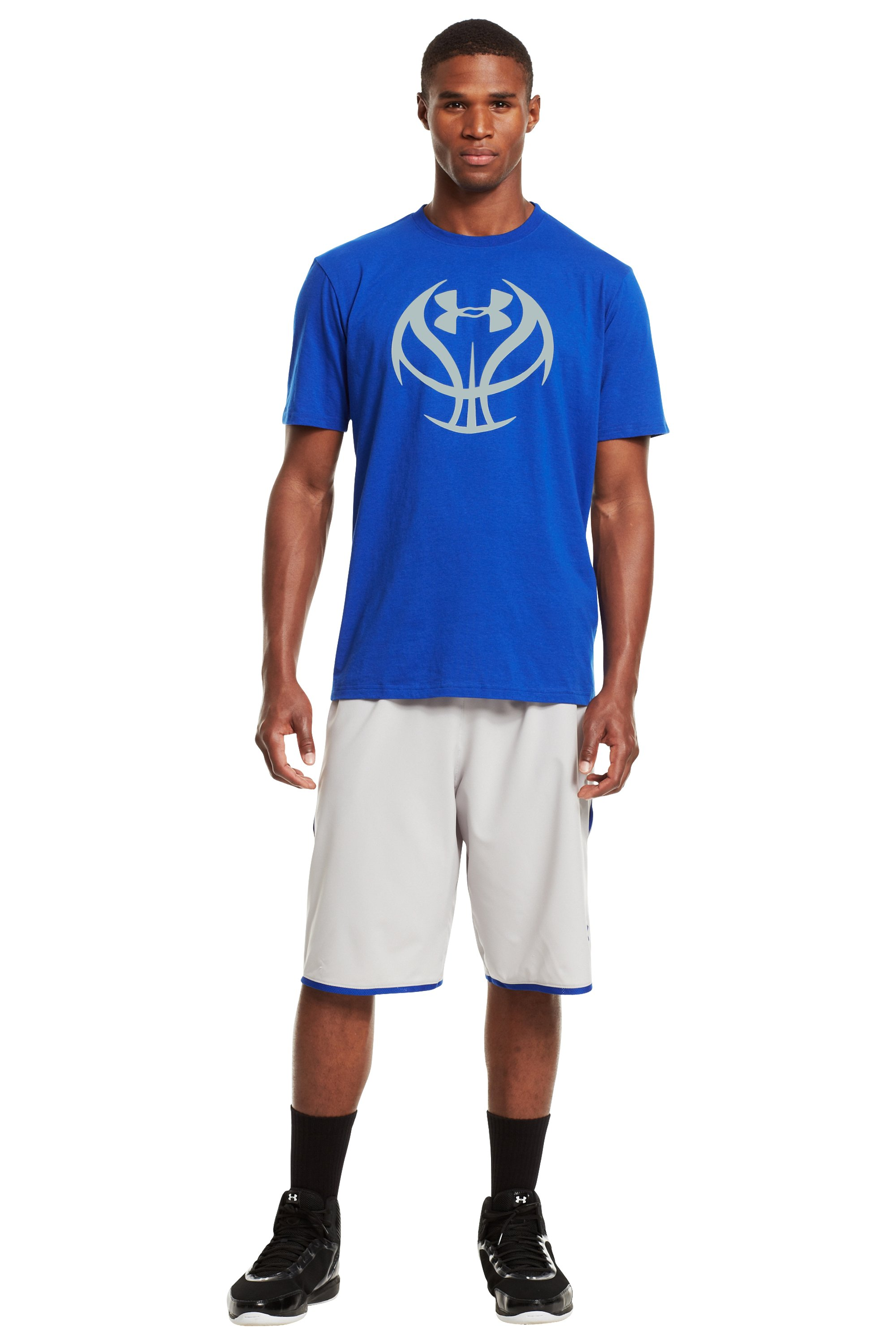 Men's UA Basketball Icon T-Shirt, Royal, zoomed image