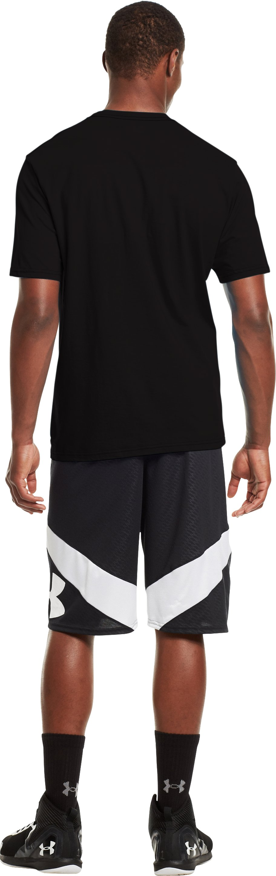 Men's UA C1N T-Shirt, Black , Back