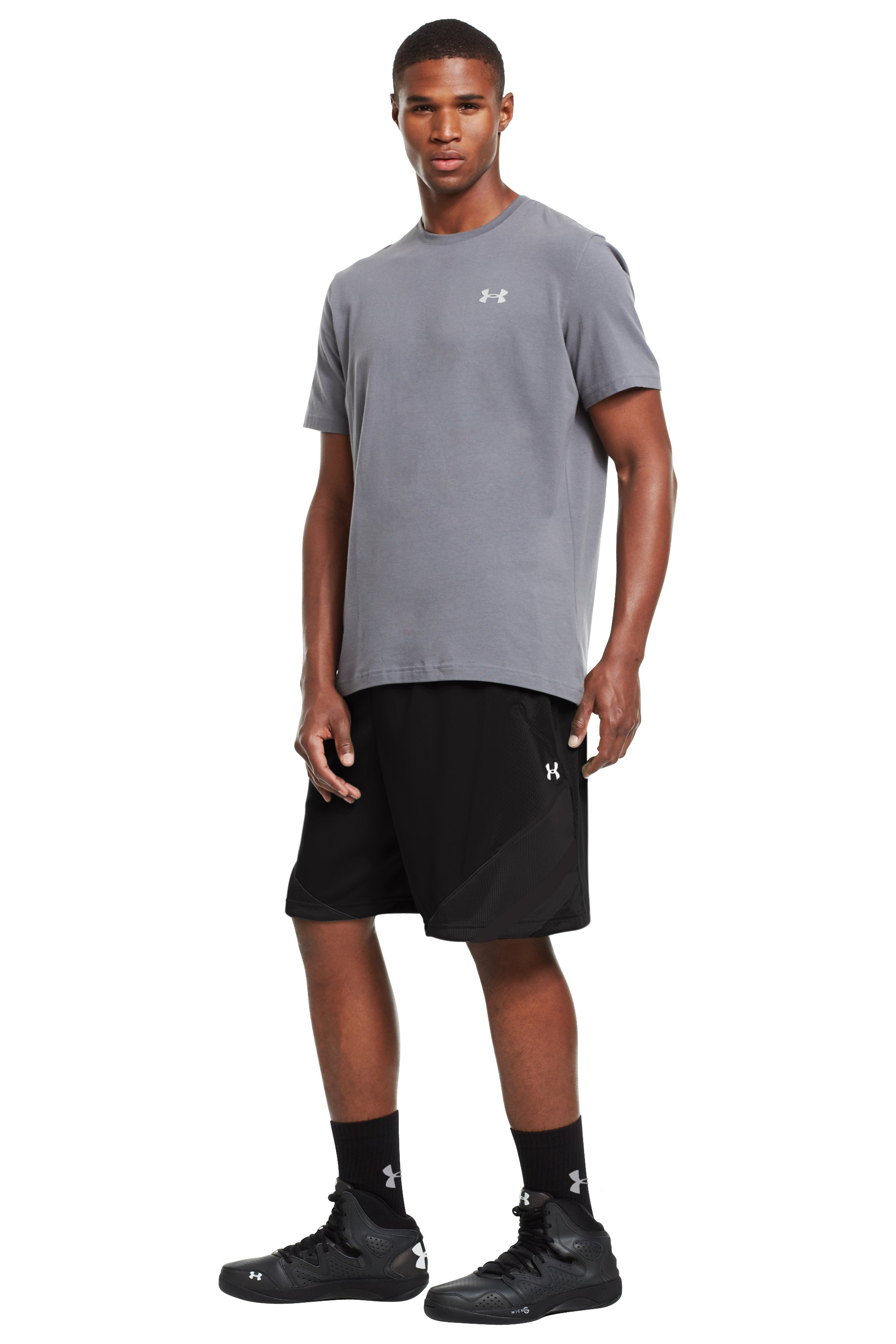 "Men's UA Hititnsplitit 10"" Shorts, Black , zoomed image"