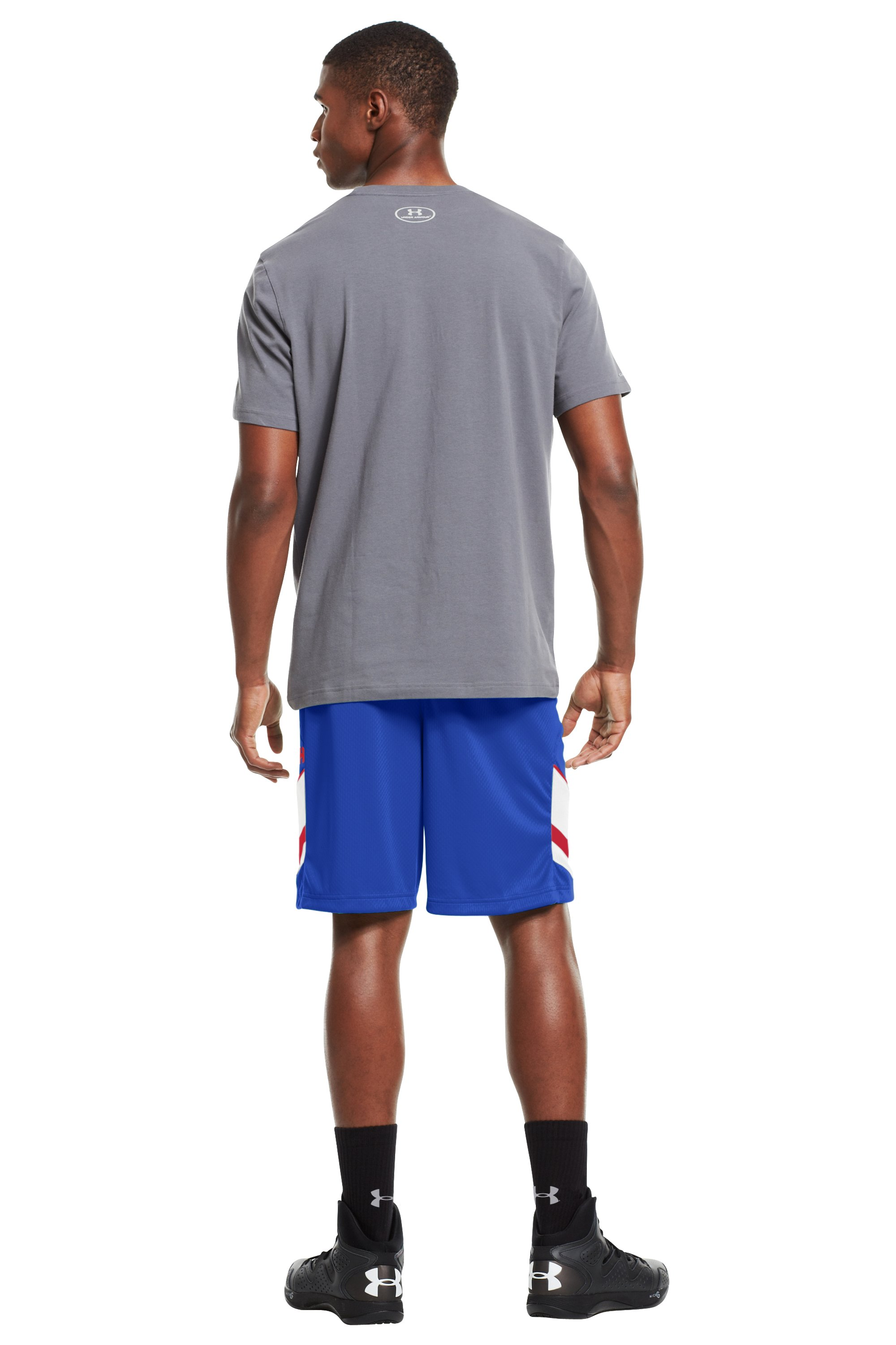 "Men's UA Hititnsplitit 10"" Shorts, Royal, Back"