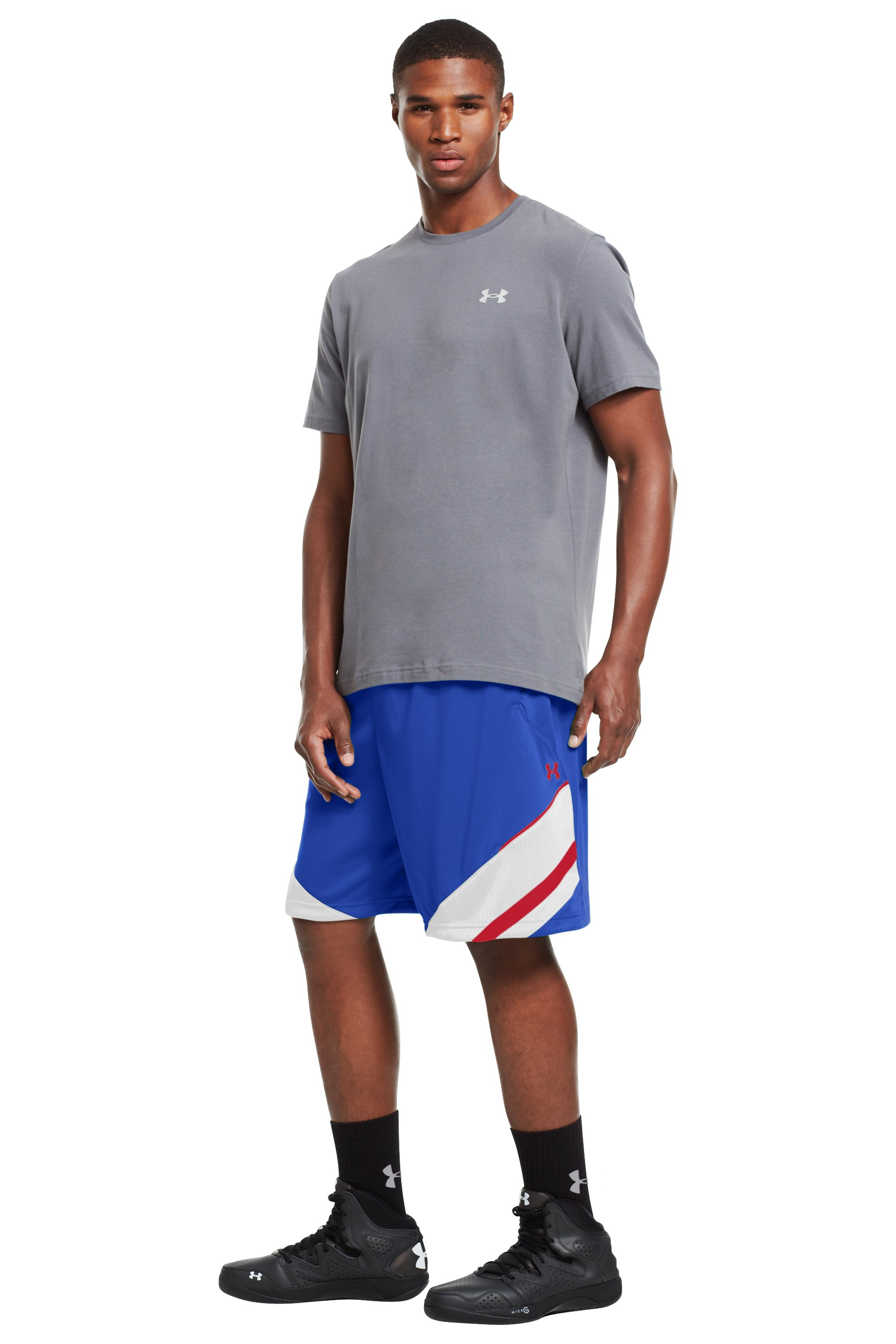 "Men's UA Hititnsplitit 10"" Shorts, Royal, zoomed image"