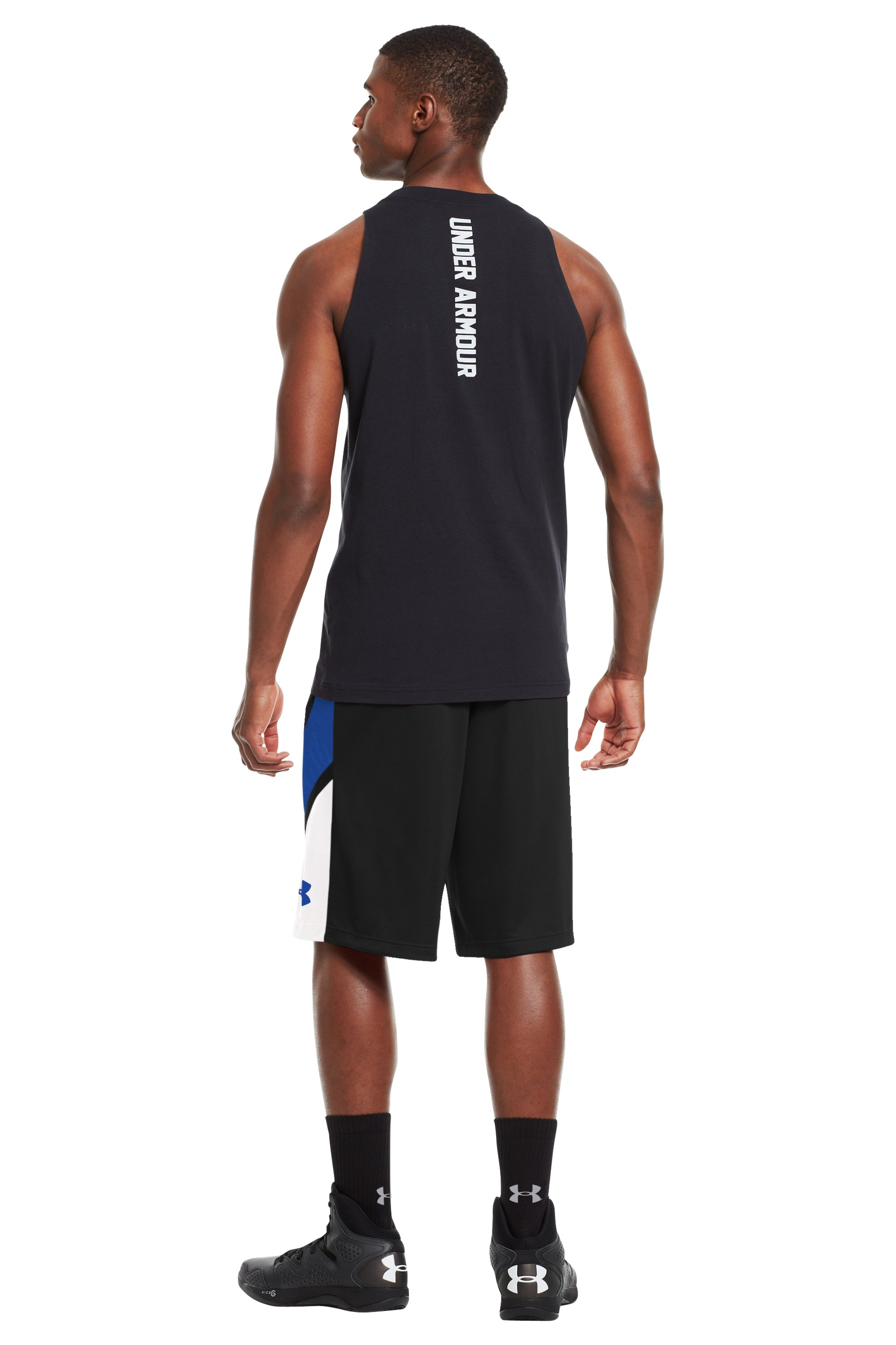 "Men's UA Ucantdenyit 12"" Shorts, Black , Back"