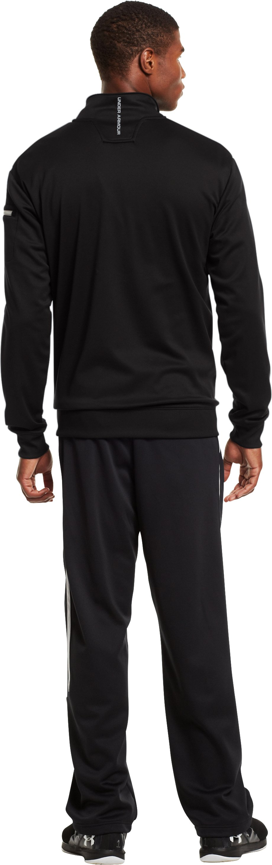 Men's UA Hustleaftait Jacket, Black , Back