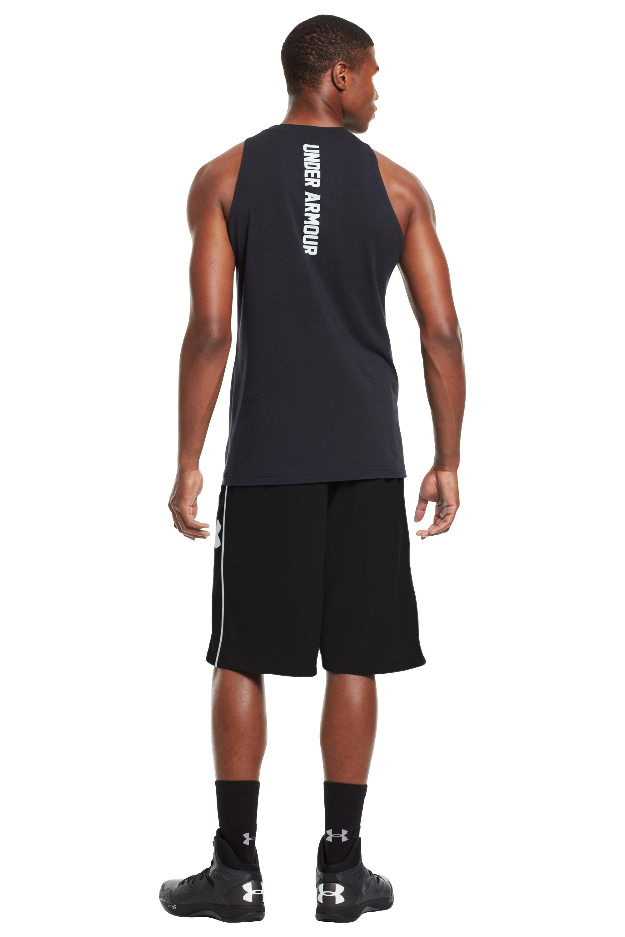 "Men's UA Kicknit 12"" Shorts, Black , Back"