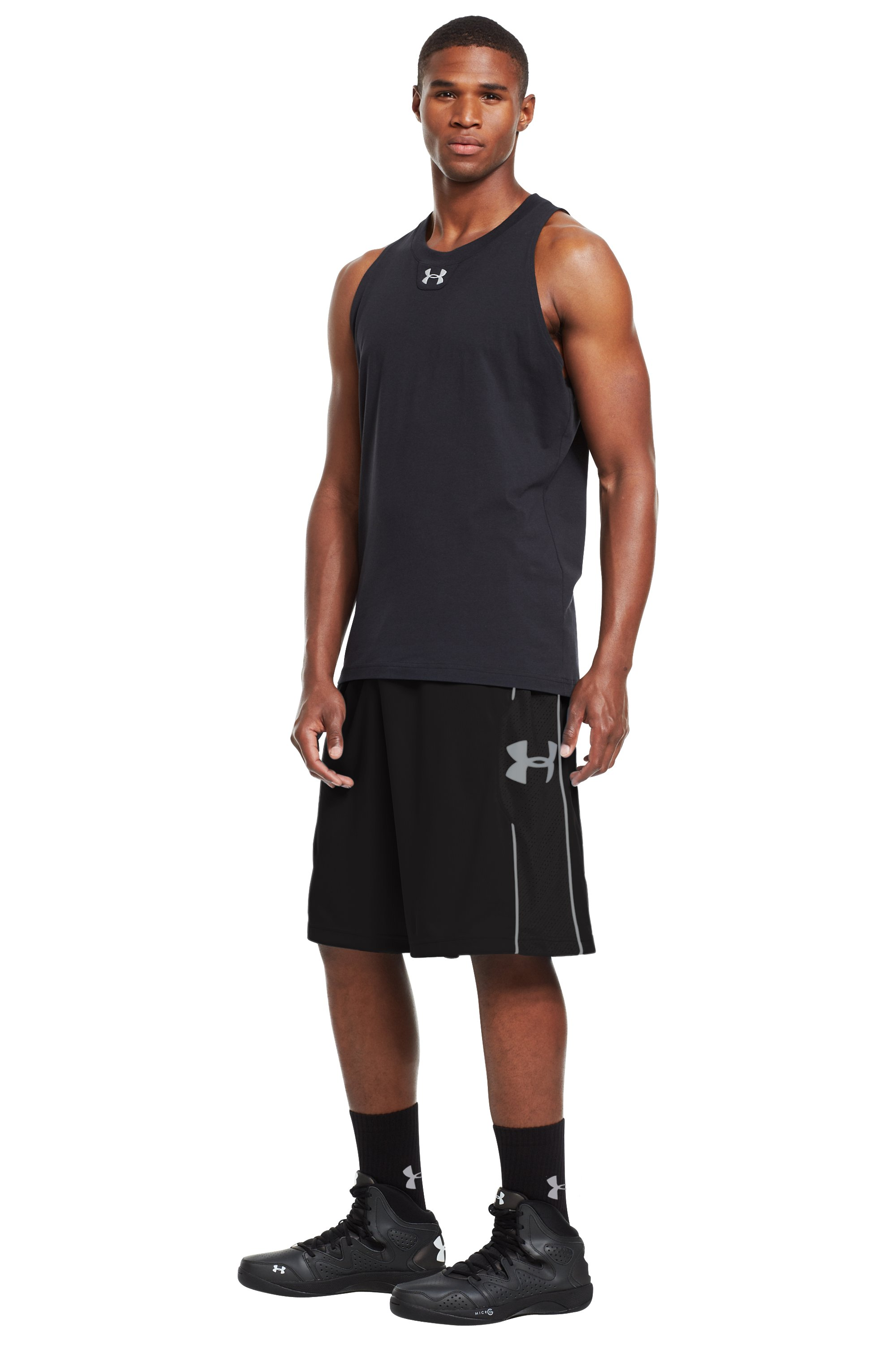"Men's UA Kicknit 12"" Shorts, Black , zoomed image"