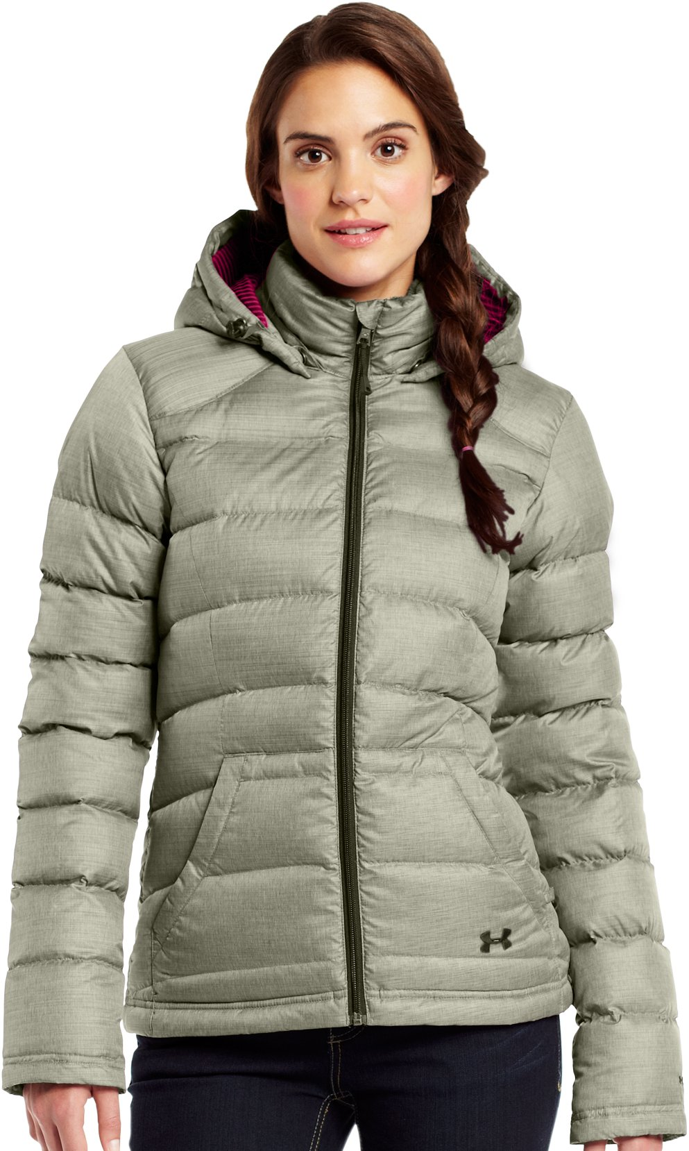 Women's ColdGear® Infrared Barrow Jacket, GREENHEAD, zoomed image