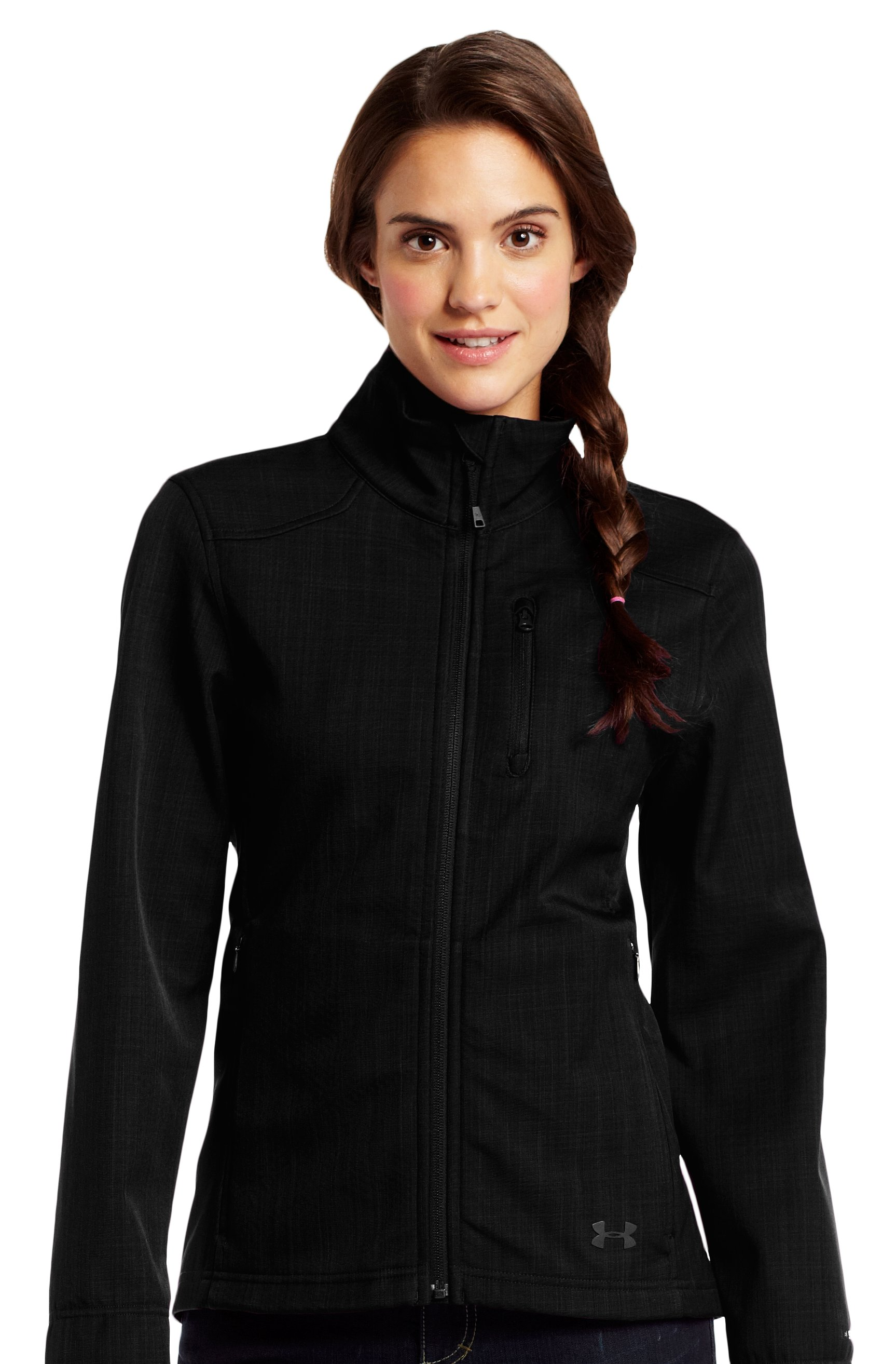 Women's ColdGear® Infrared Radar Jacket, Black , Front
