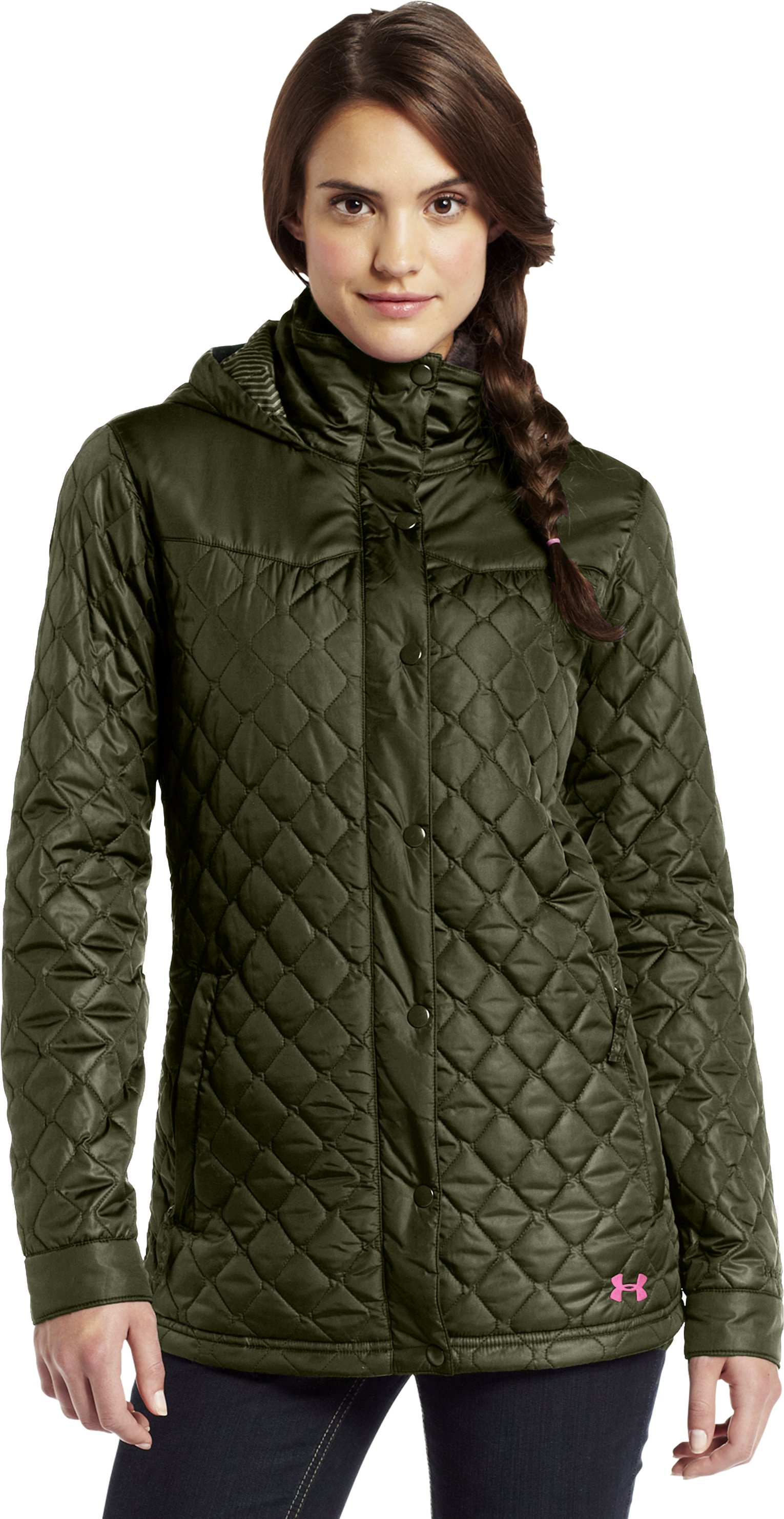Women's ColdGear® Infrared Alpinlite Parka, GREENHEAD, zoomed image