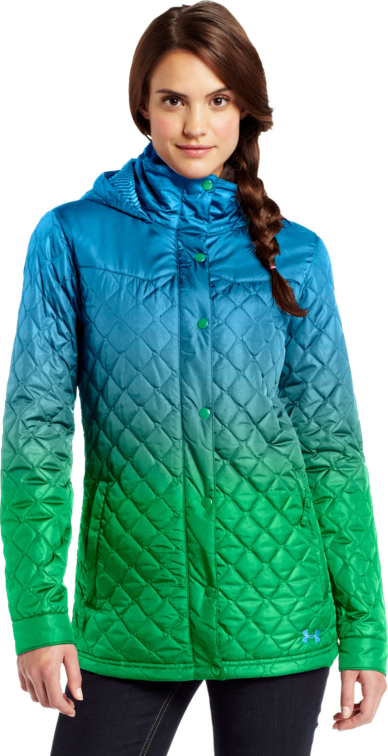 Women's ColdGear® Infrared Alpinlite Parka, Crown Jewel, Front