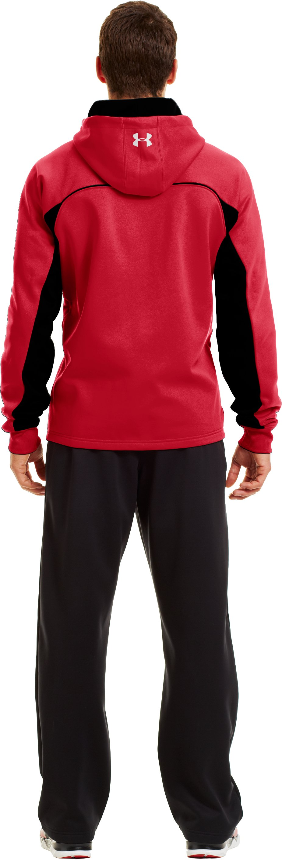 Men's Armour® Fleece Storm Doinit Hoodie, Red, Back