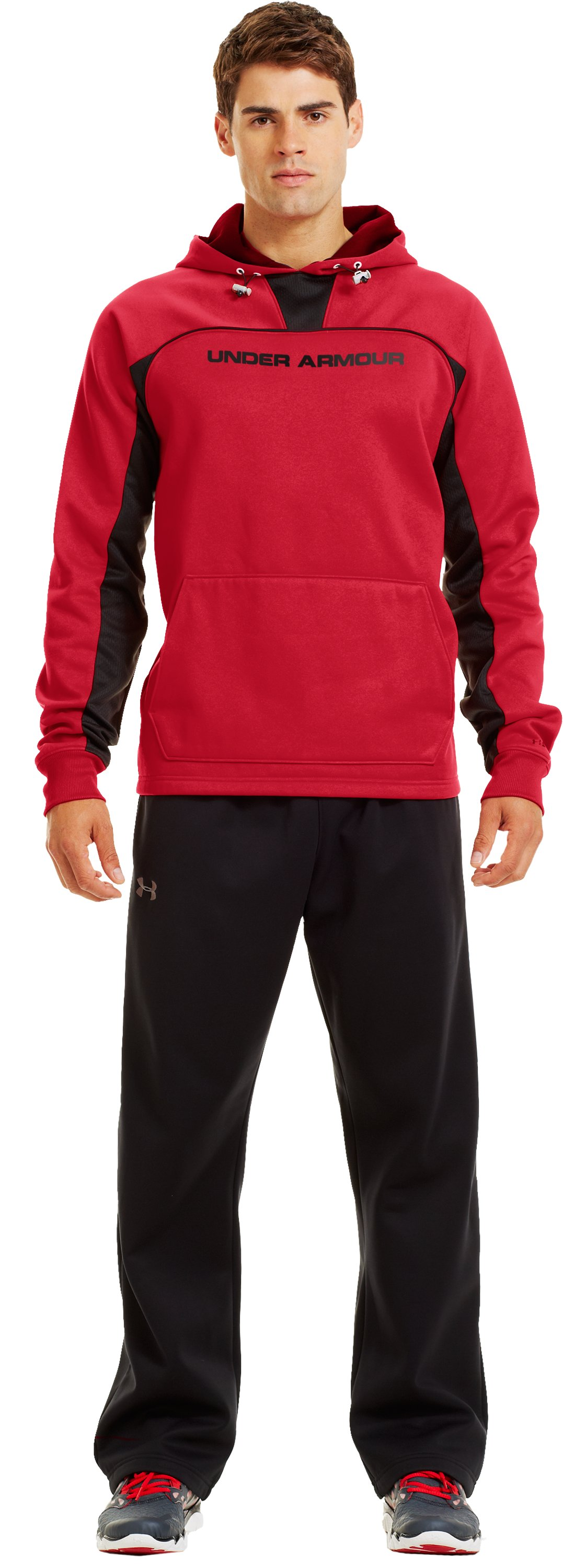 Men's Armour® Fleece Storm Doinit Hoodie, Red, Front