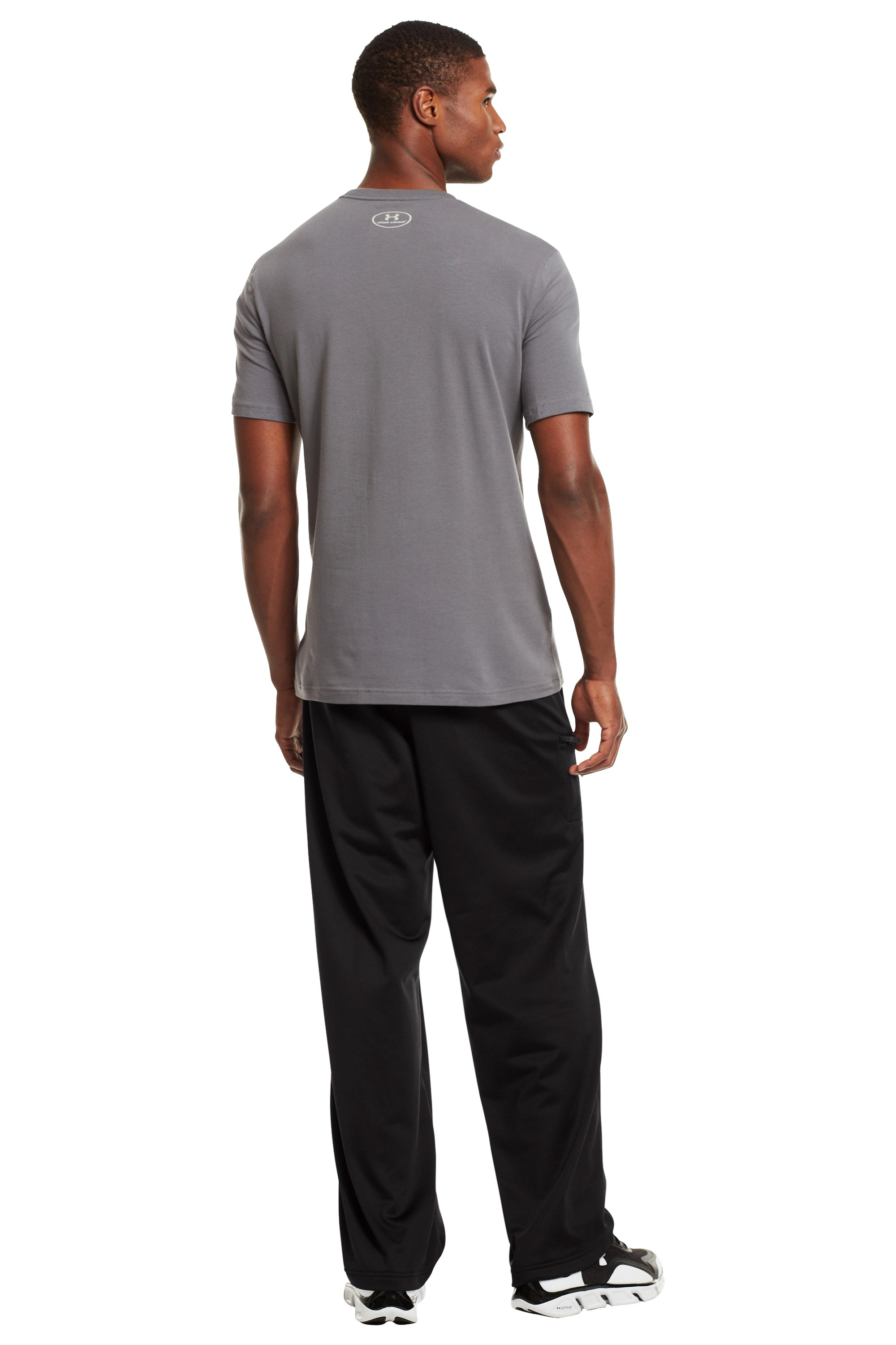 Men's UA Flossnit Warm-Up Pants, Black , Back