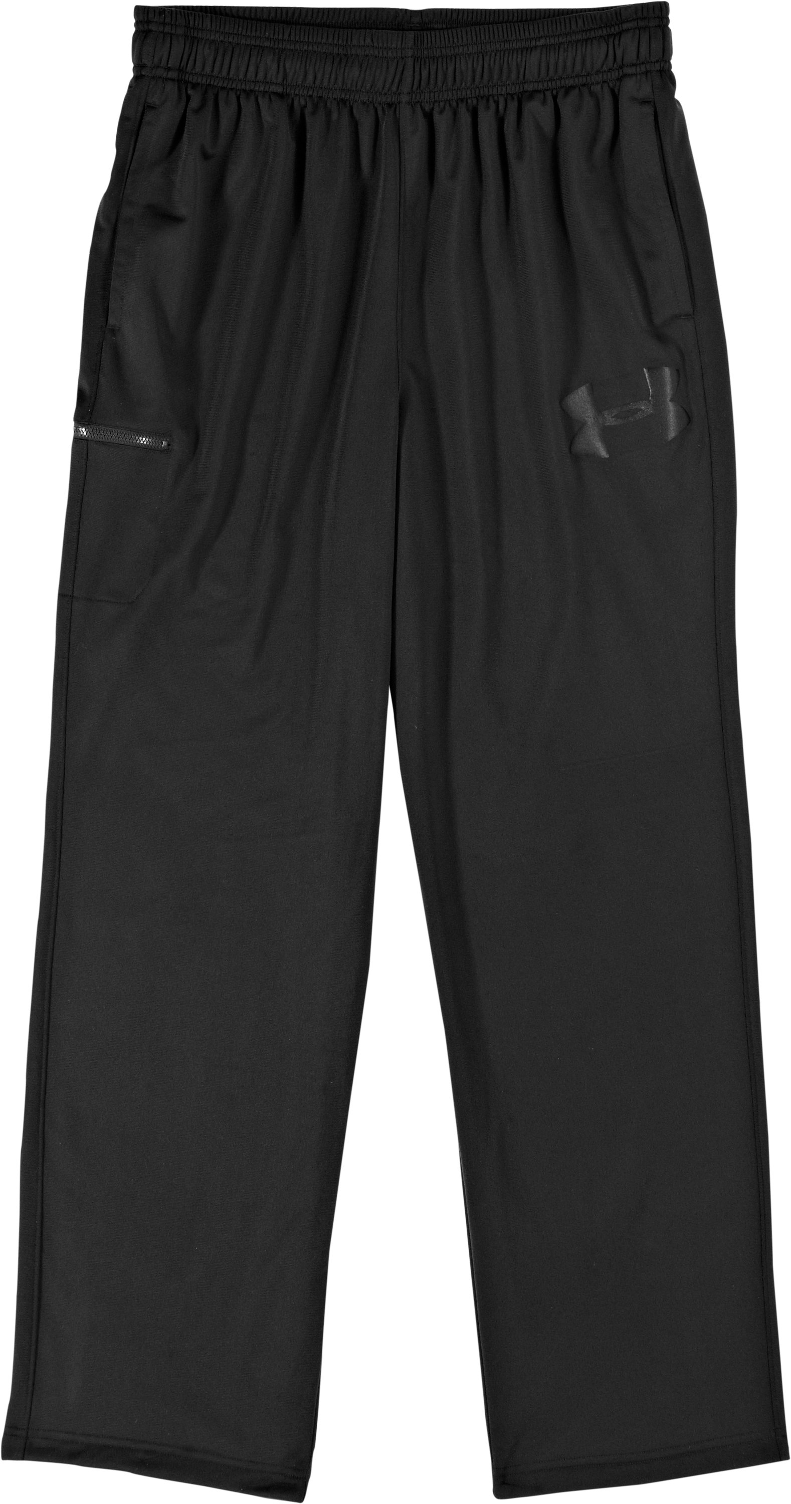 Men's UA Flossnit Warm-Up Pants, Black , Laydown