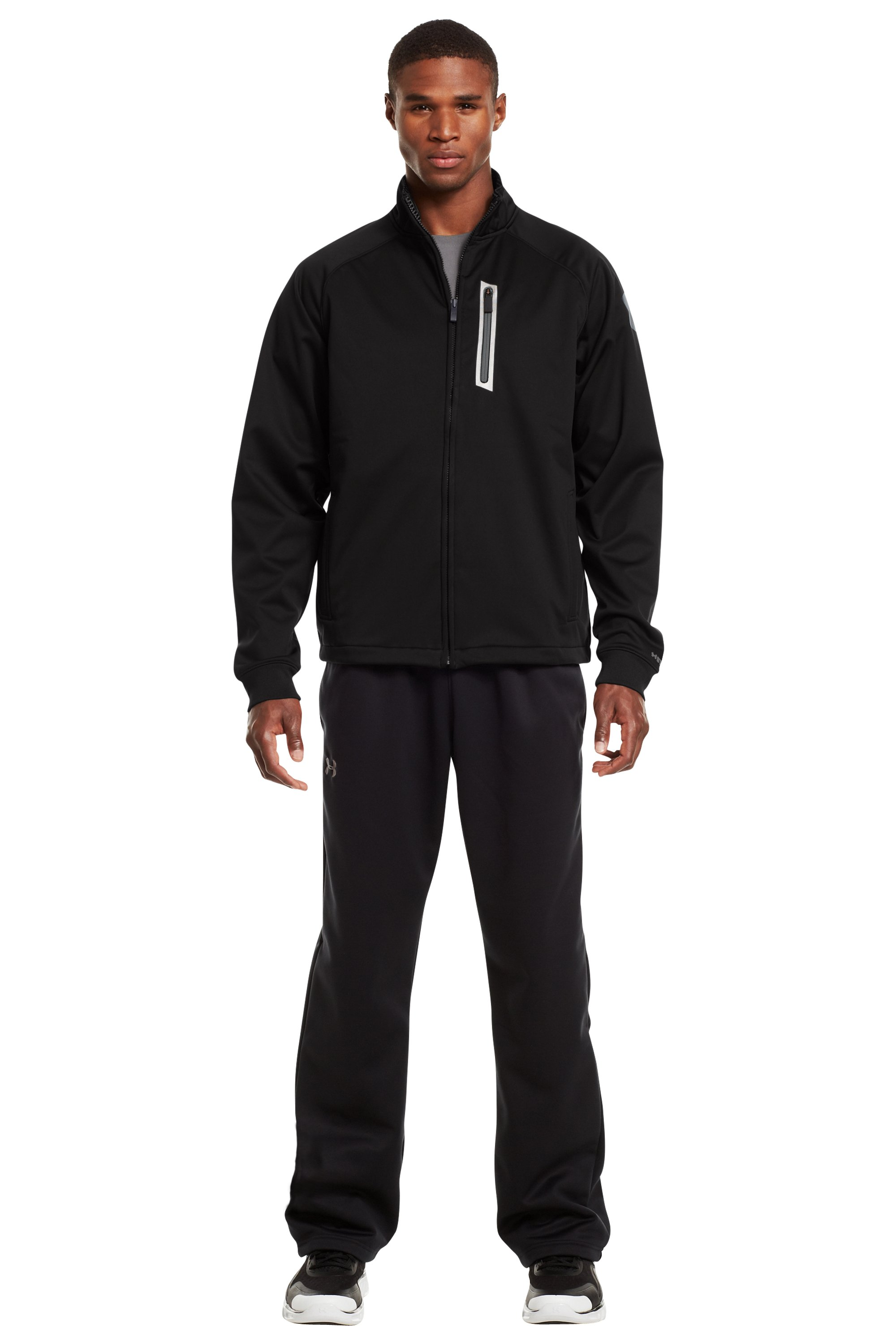 Men's ColdGear® Infrared Chillnit Storm Jacket, Black , Front