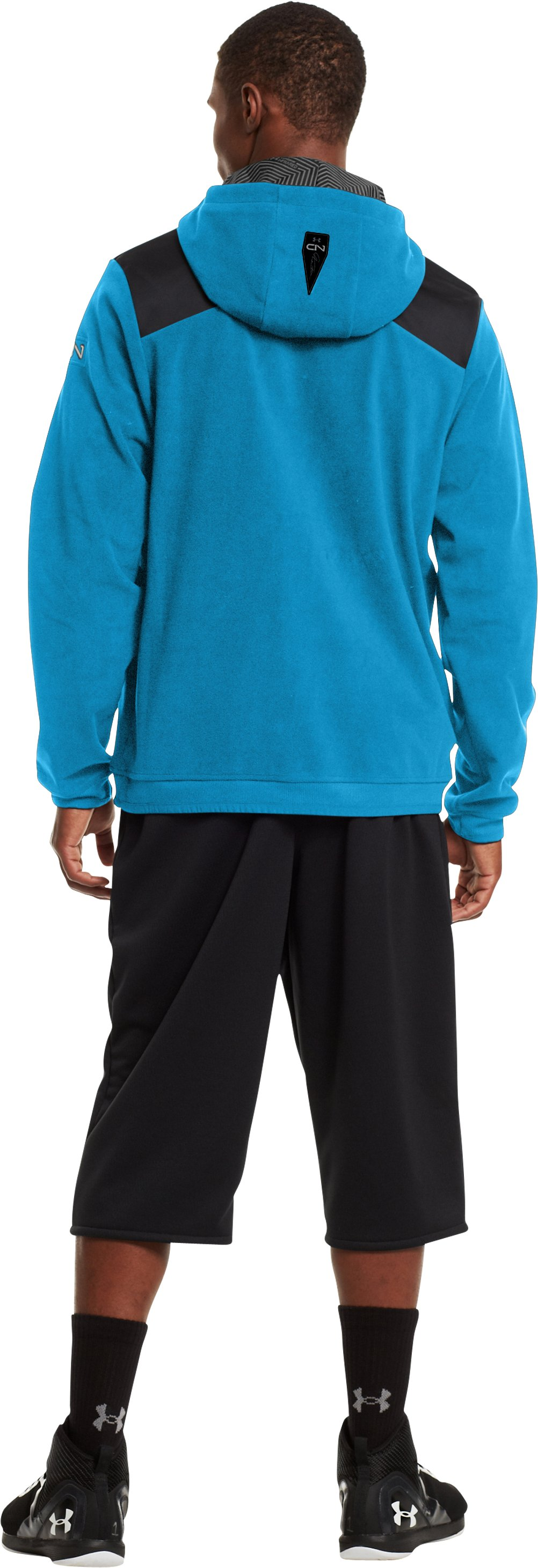 Men's ColdGear® Infrared C1N ¼ Zip Hoodie, Capri, Back