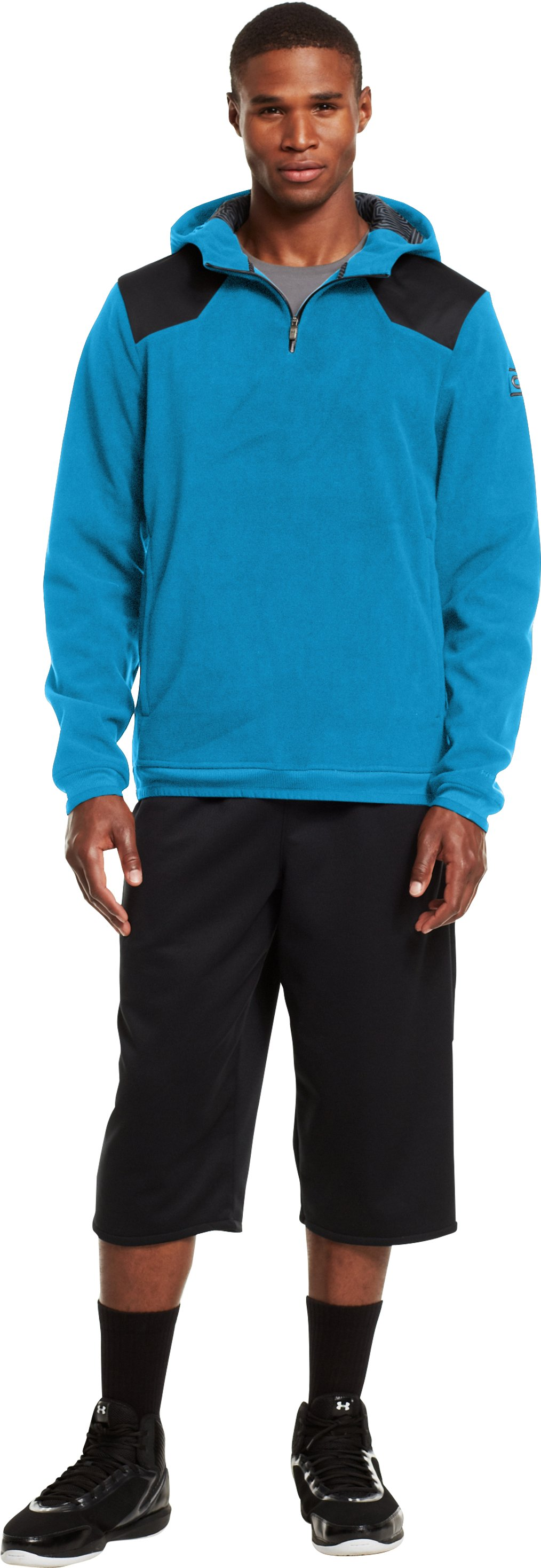 Men's ColdGear® Infrared C1N ¼ Zip Hoodie, Capri, zoomed image