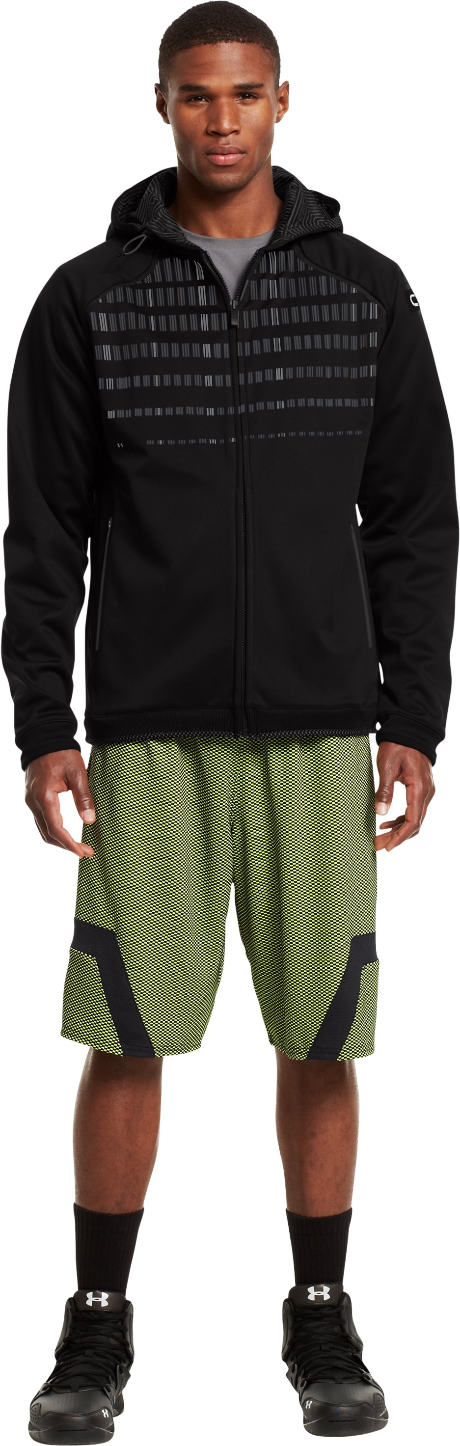 Men's C1N Signature Full Zip Hoodie, Black , zoomed image