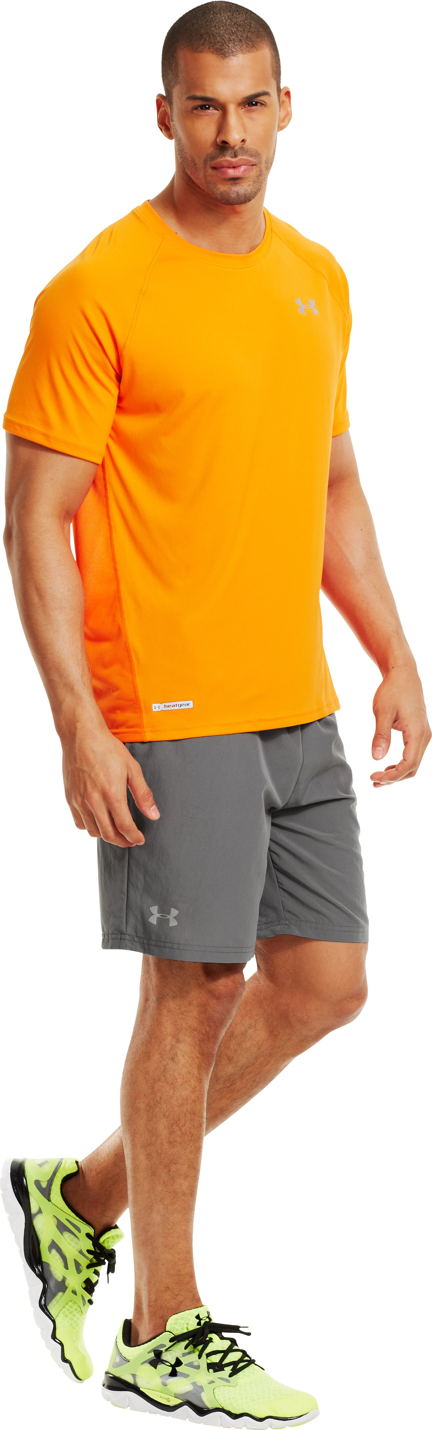 Men's UA Sixth Man 2-in-1 Shorts, Graphite, zoomed image