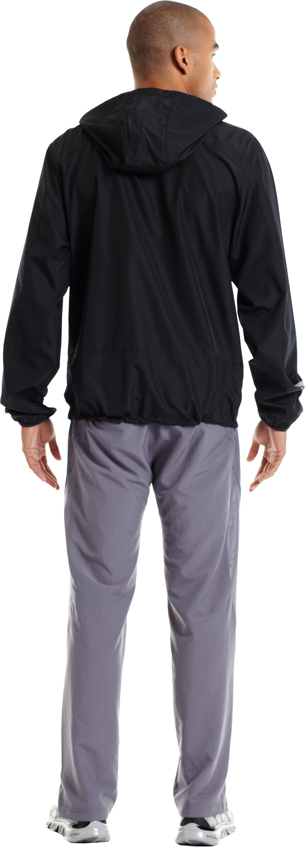 Men's UA Storm Imminent Run Jacket, Black , Back