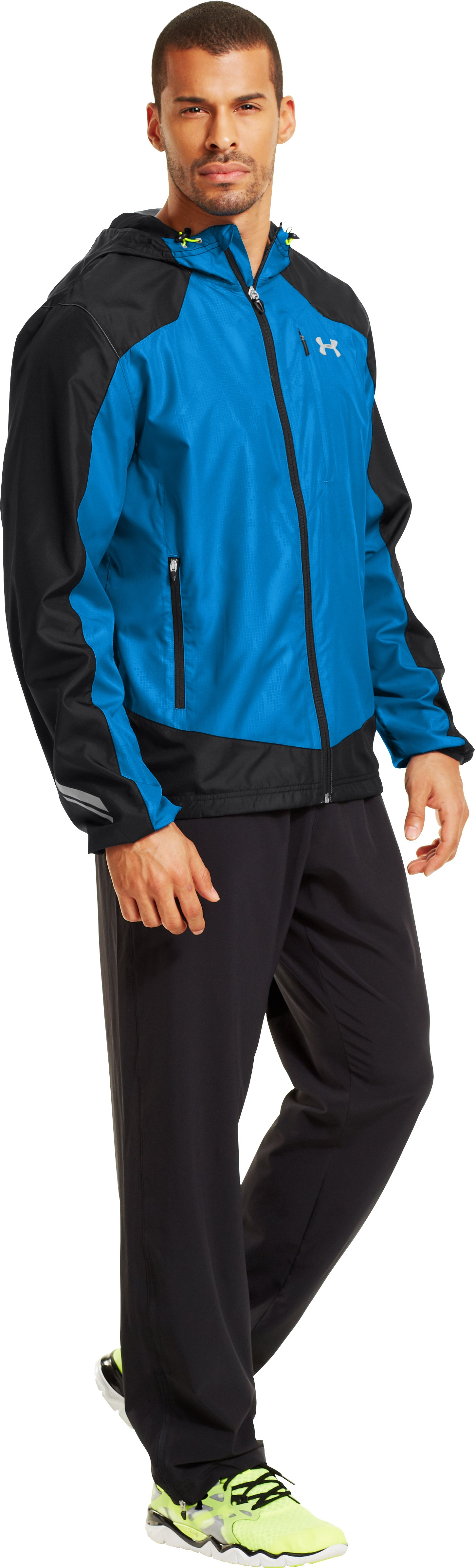 Men's UA Storm Imminent Run Jacket, Black , Front