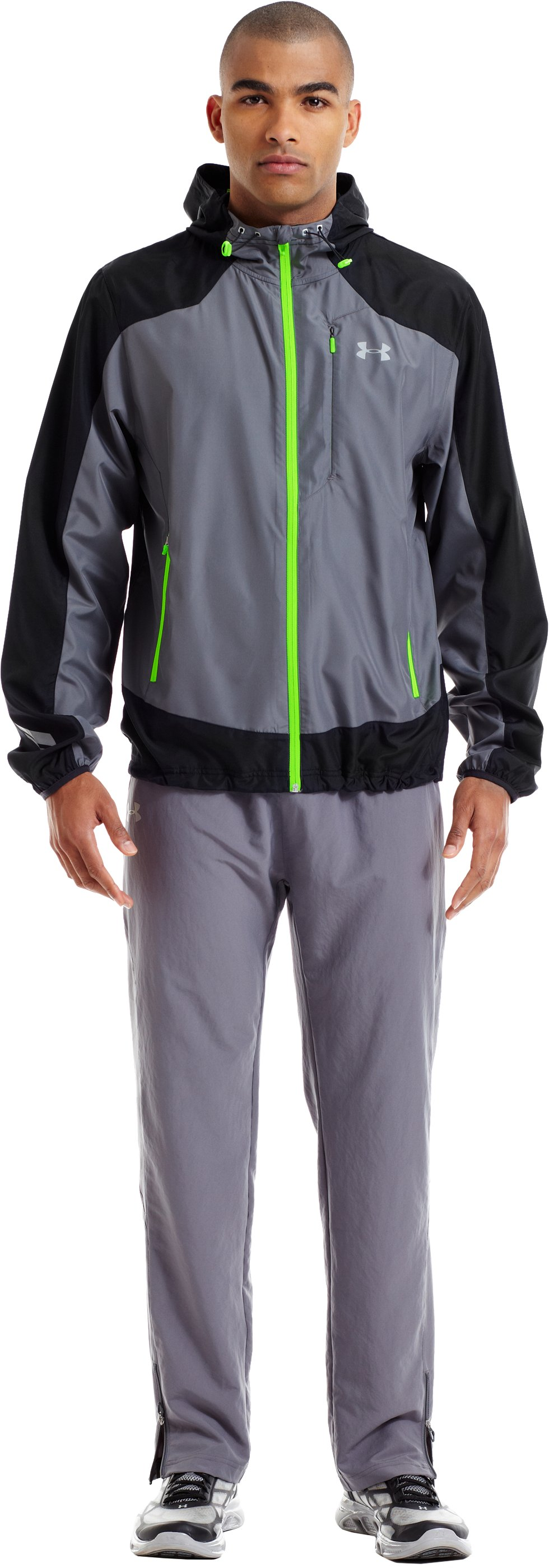 Men's UA Storm Imminent Run Jacket, Graphite, Front