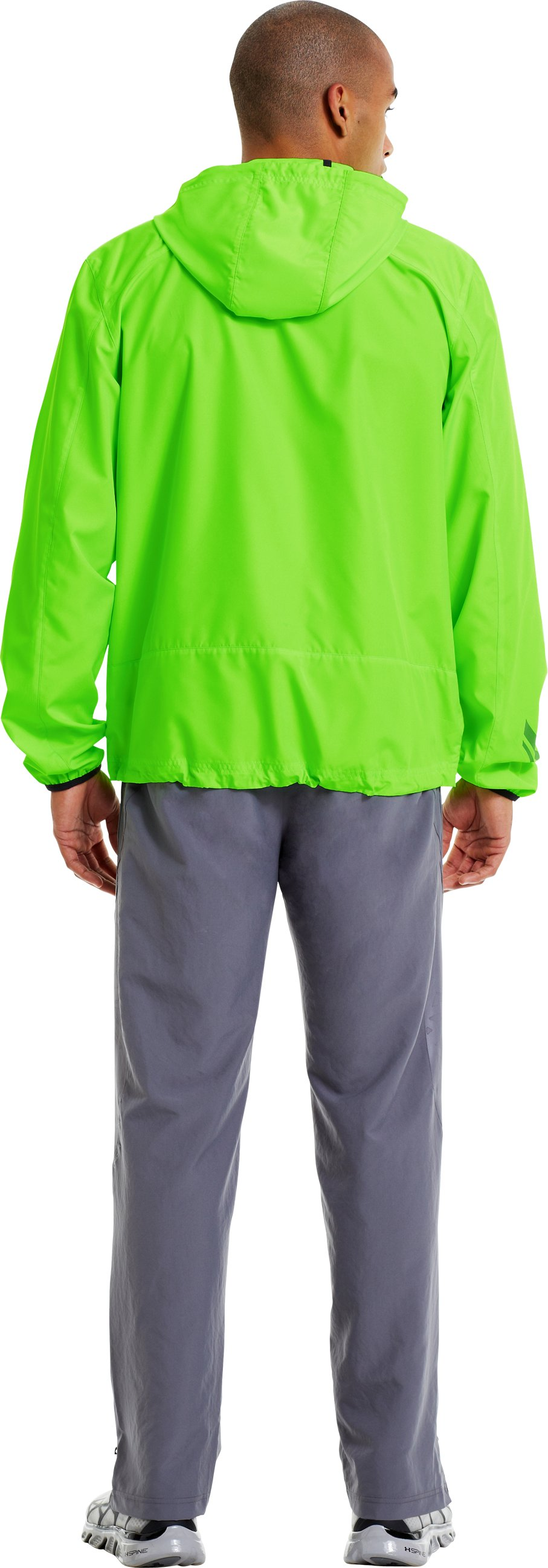 Men's UA Storm Imminent Run Jacket, HYPER GREEN, Back