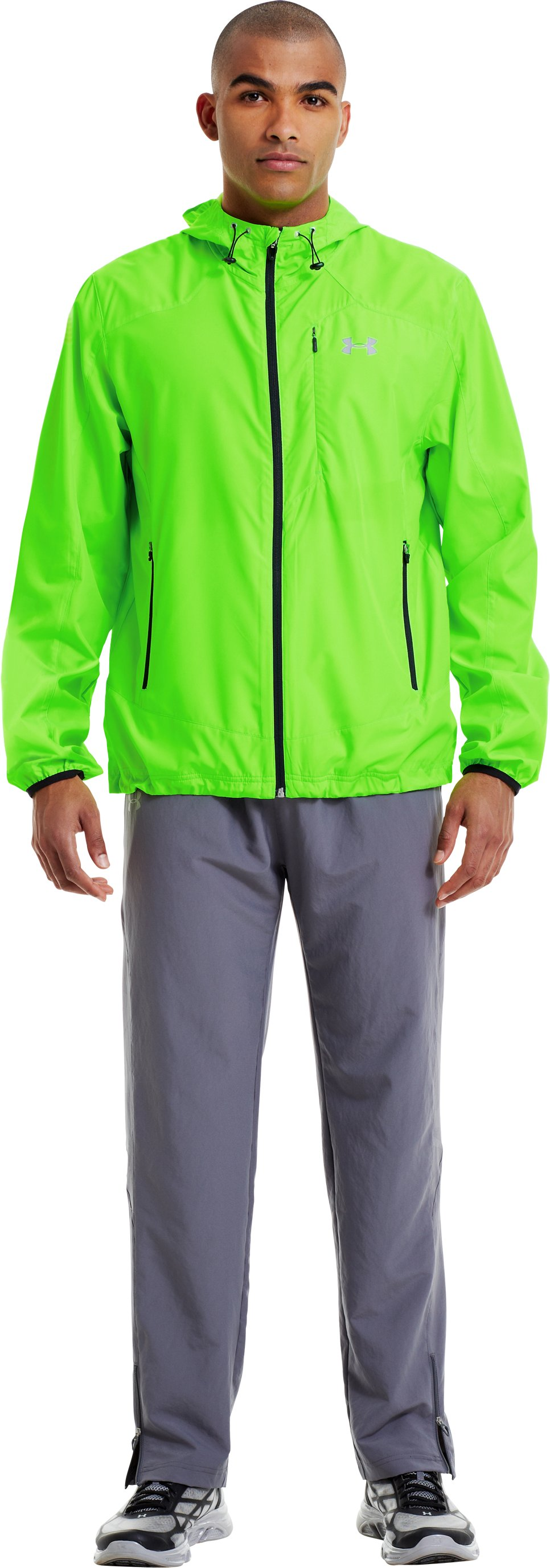 Men's UA Storm Imminent Run Jacket, HYPER GREEN, Front