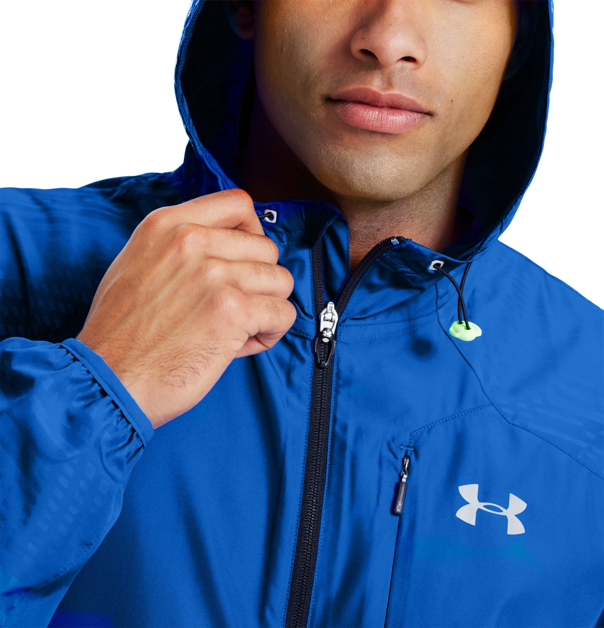 Men's UA Storm Imminent Run Jacket, HYPER GREEN