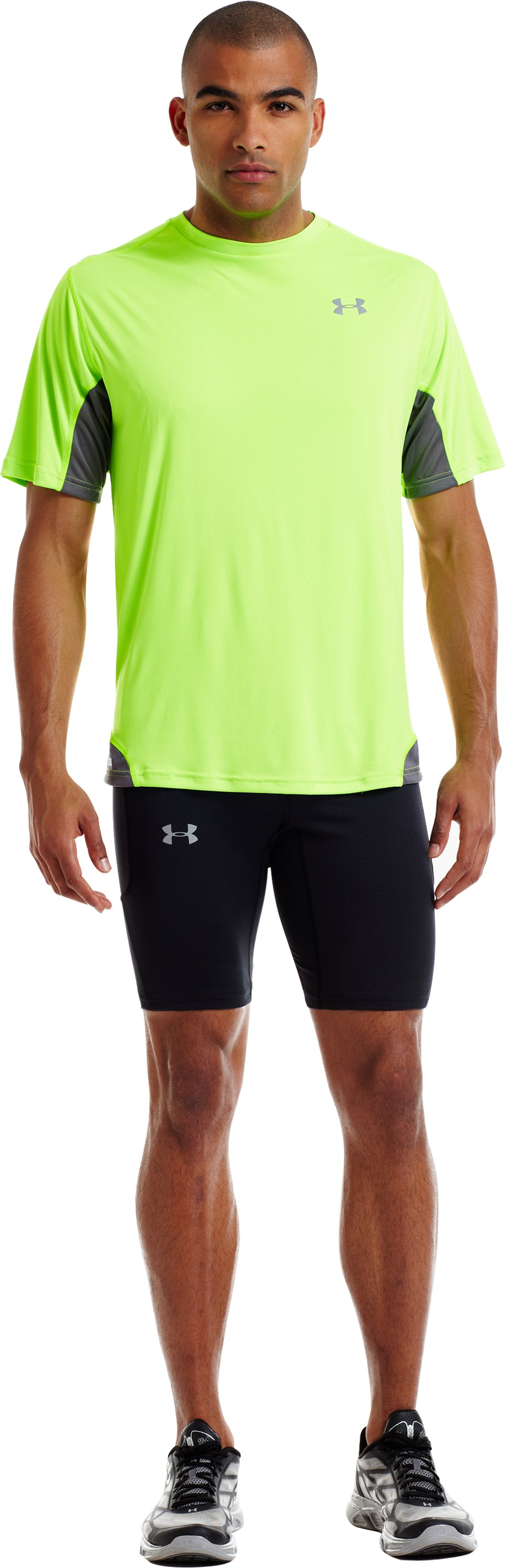 Men's UA Run Compression Shorts, Black , zoomed image