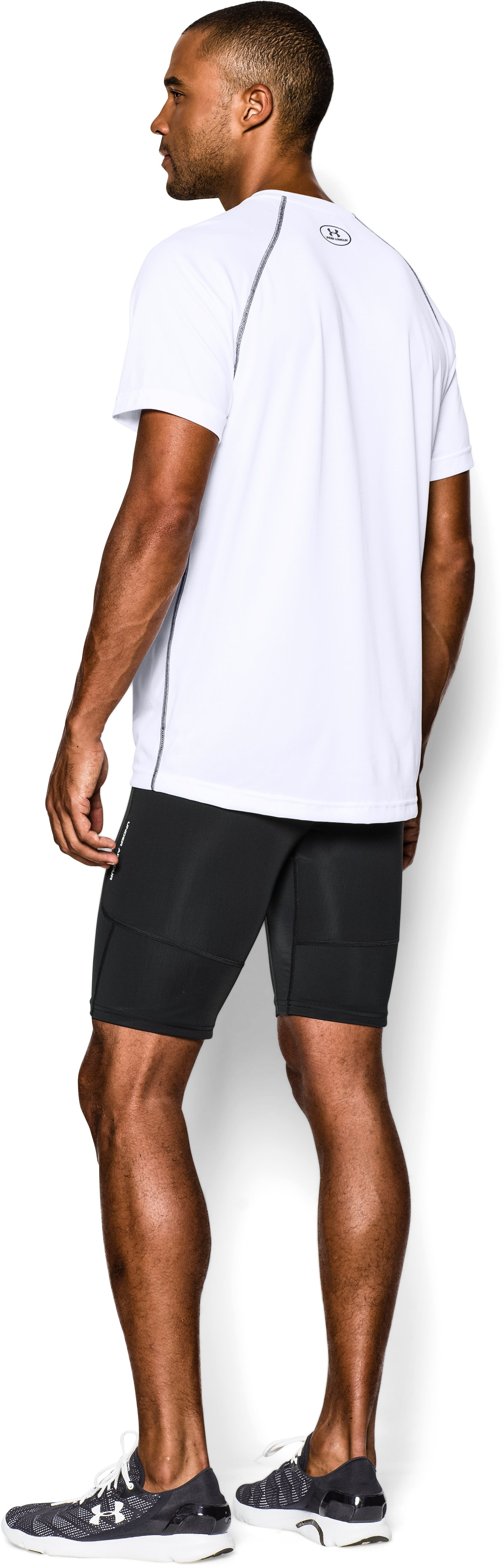 Men's UA Run Compression Shorts, Black , Back