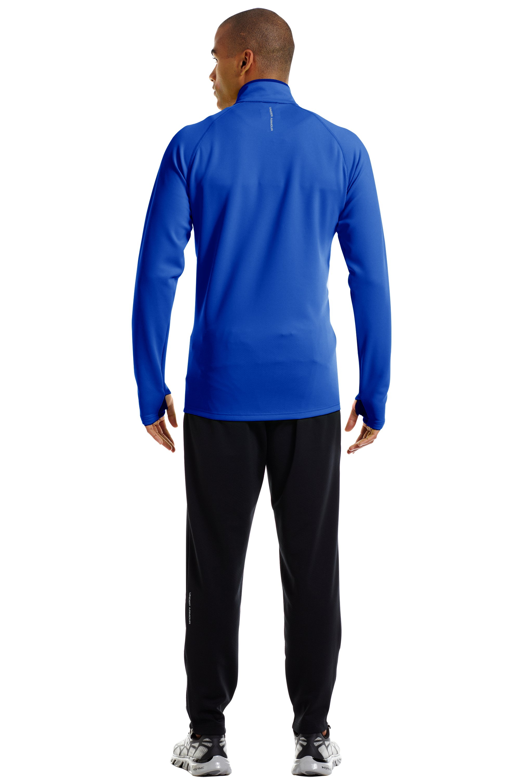 Men's ColdGear® Thermo Run ¼ Zip, Moon Shadow, Back