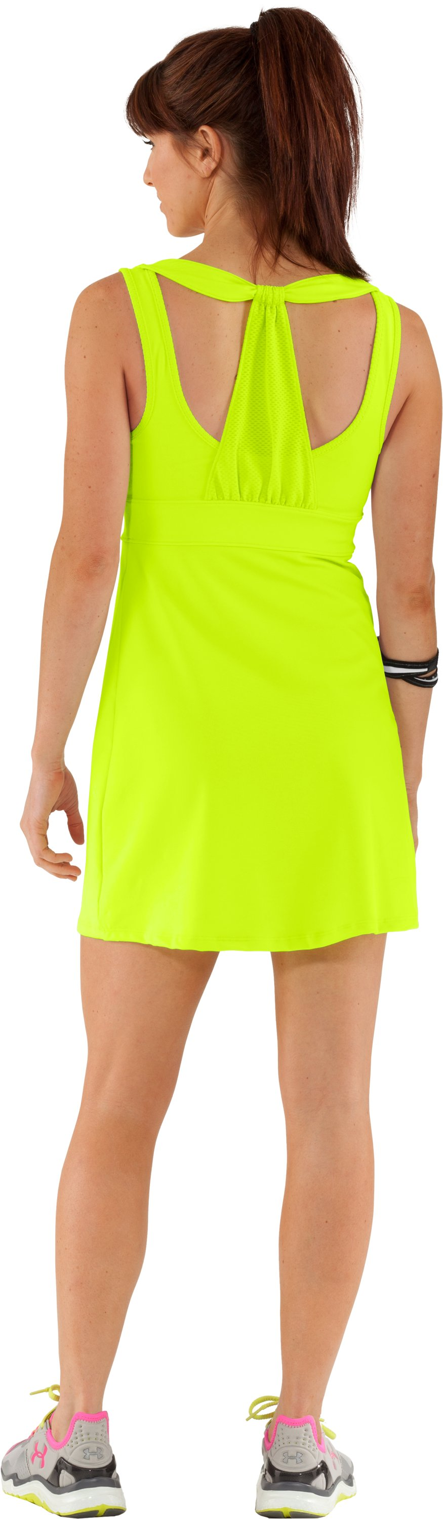 Women's UA Sweet Spot Dress, High-Vis Yellow, Back