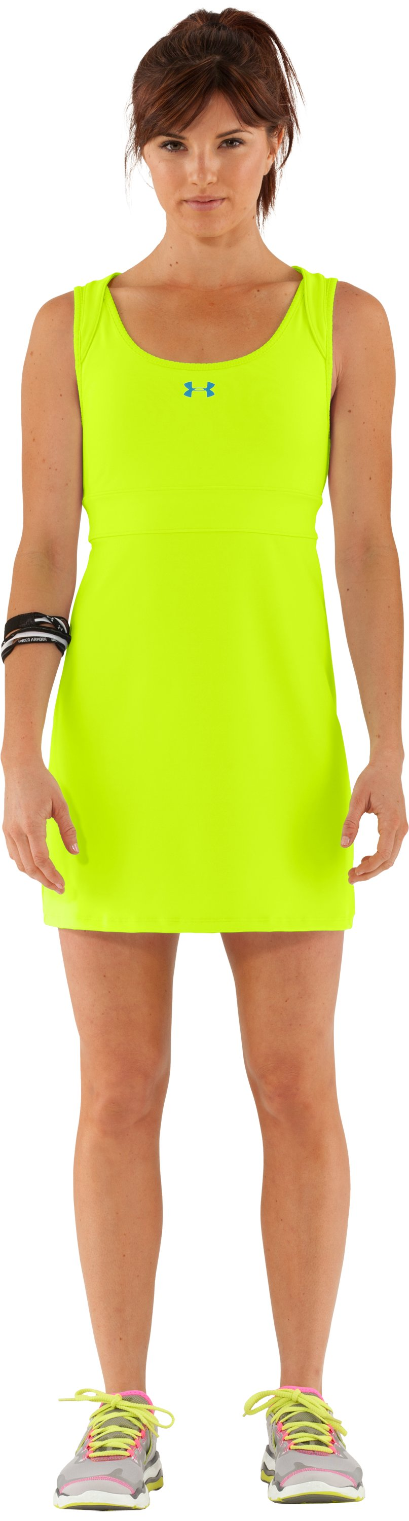 Women's UA Sweet Spot Dress, High-Vis Yellow, Front