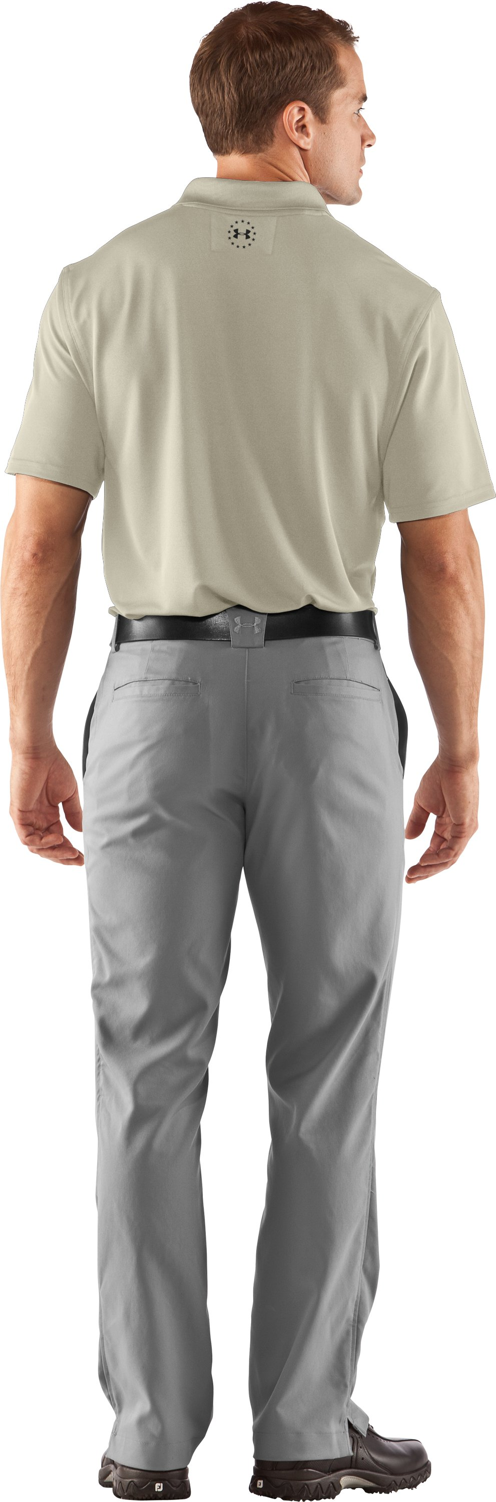 Men's UA WWP Performance Polo, Desert Sand, Back