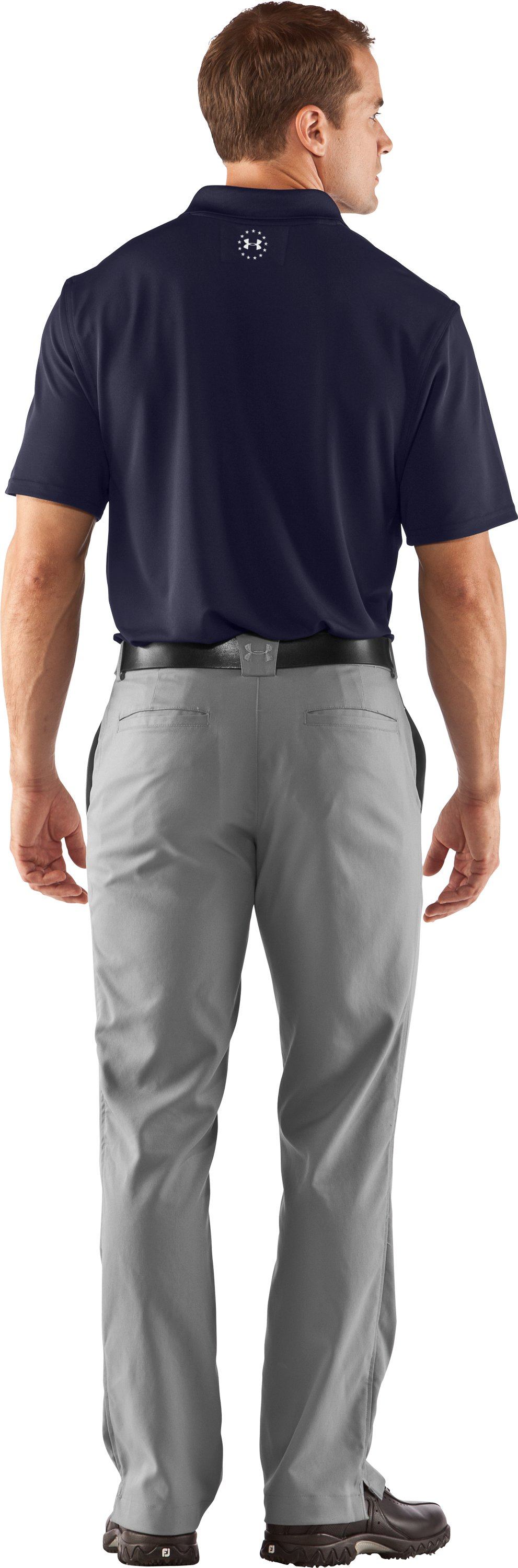 Men's UA WWP Performance Polo, Midnight Navy, Back