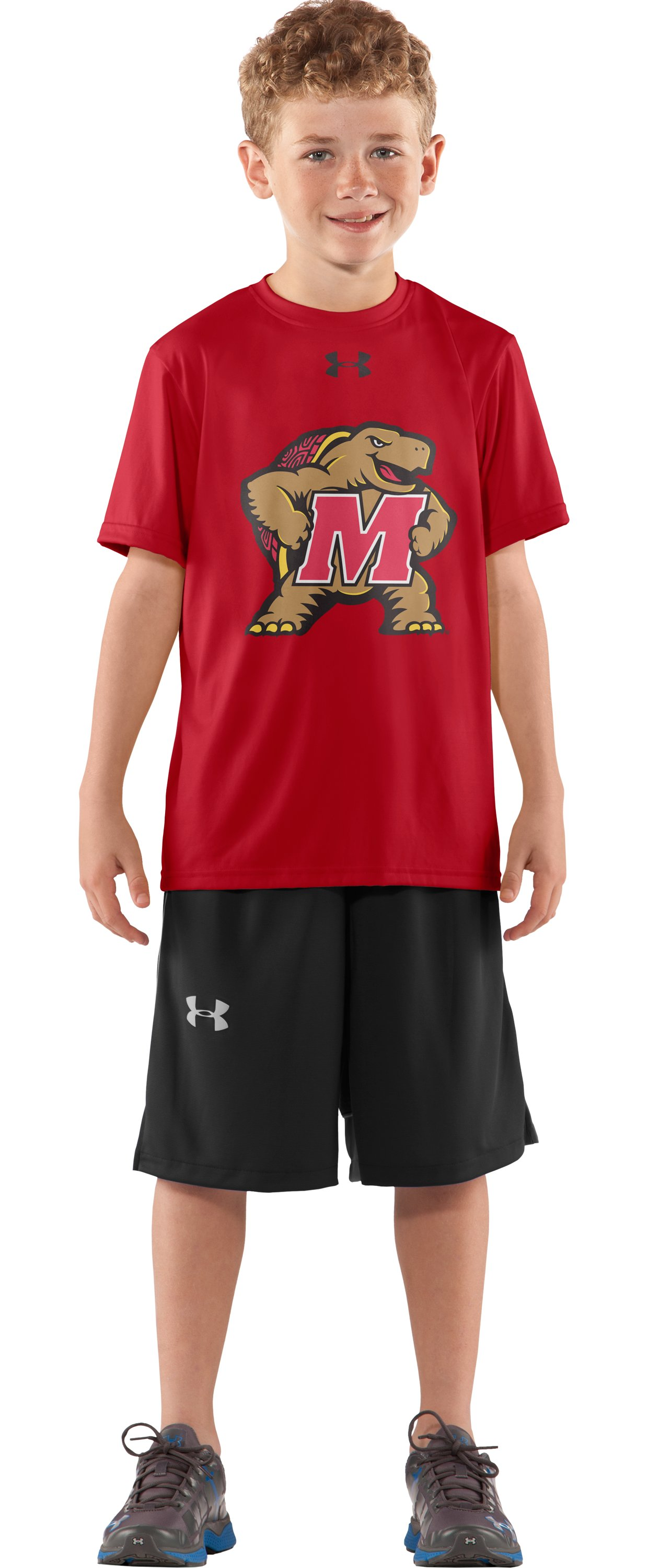 Boys' Maryland UA Tech™ T-Shirt, Red, zoomed image