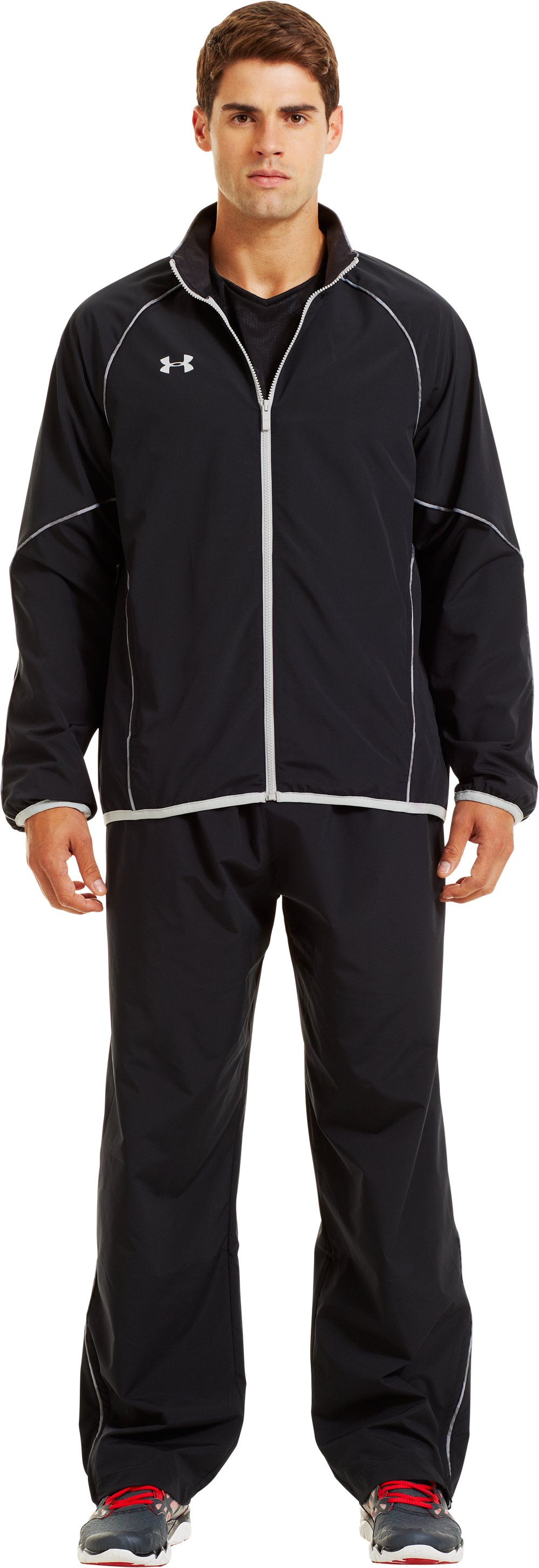 Men's UA Storm Puck Warm-Up Jacket, Black , Front