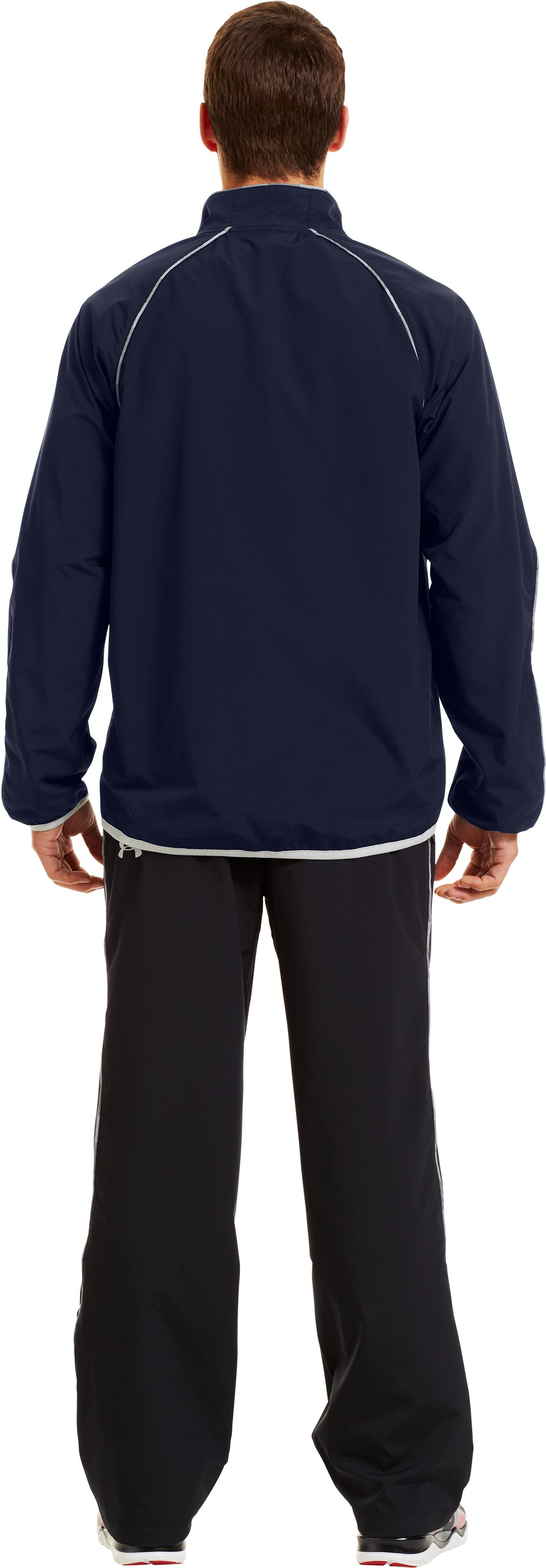 Men's UA Storm Puck Warm-Up Jacket, Midnight Navy, Back