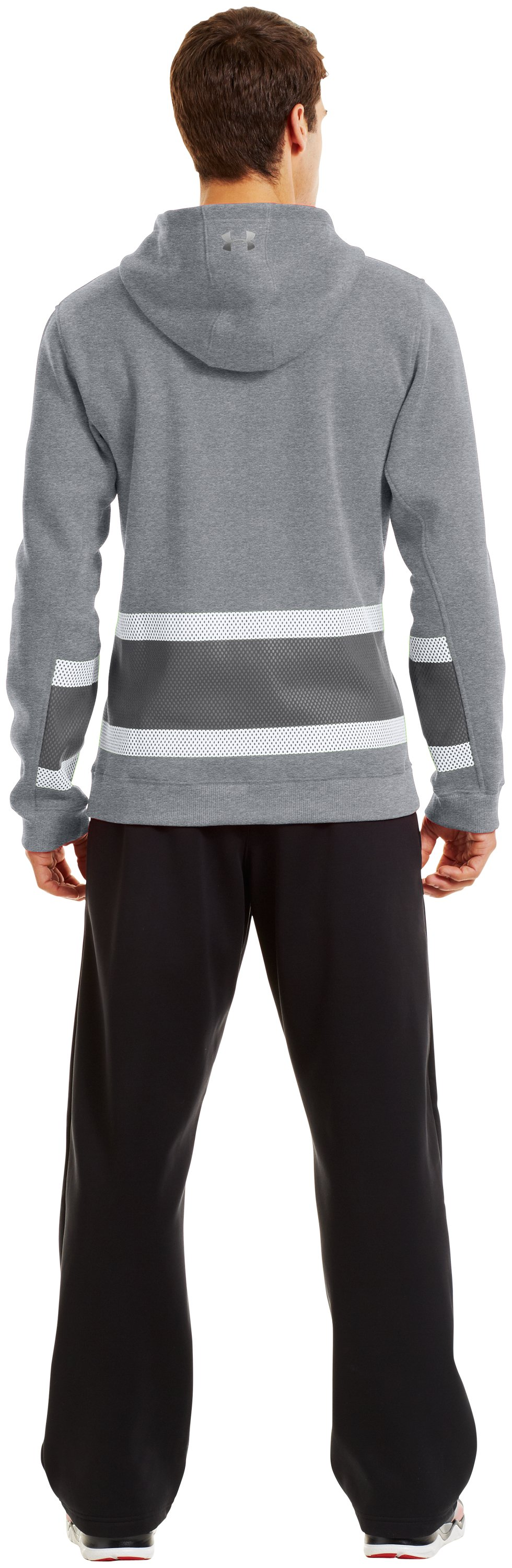 Men's Charged Cotton® Storm Chuck-A-Puck Hoodie, True Gray Heather, Back