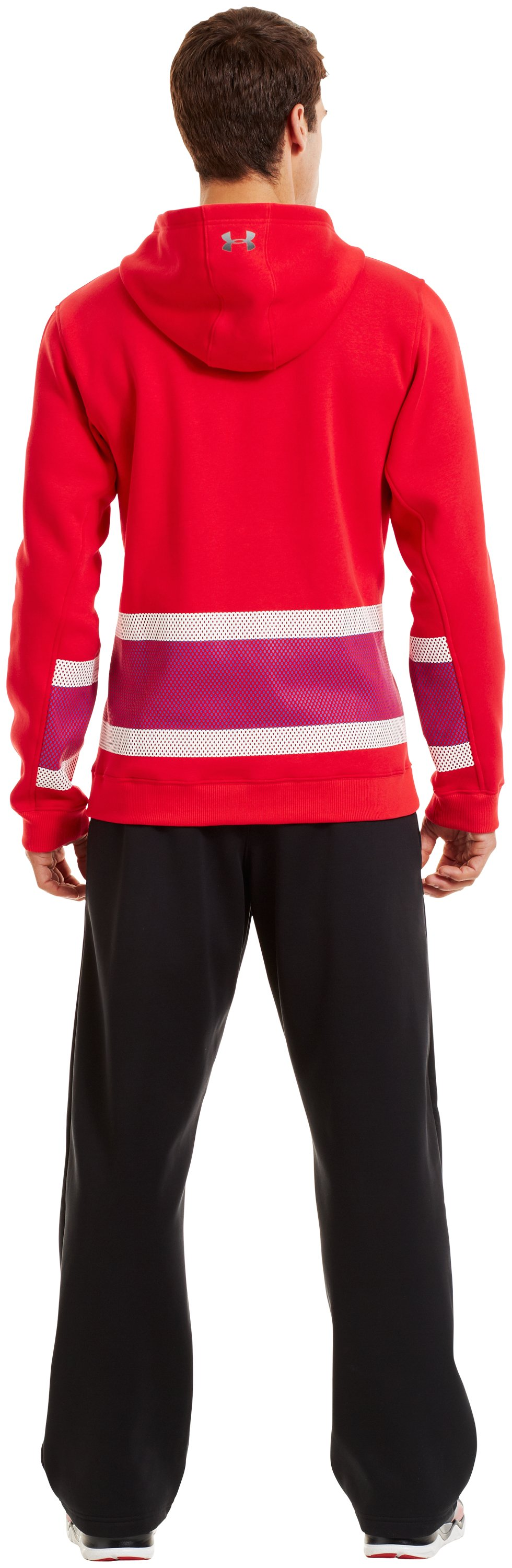 Men's Charged Cotton® Storm Chuck-A-Puck Hoodie, Red, Back