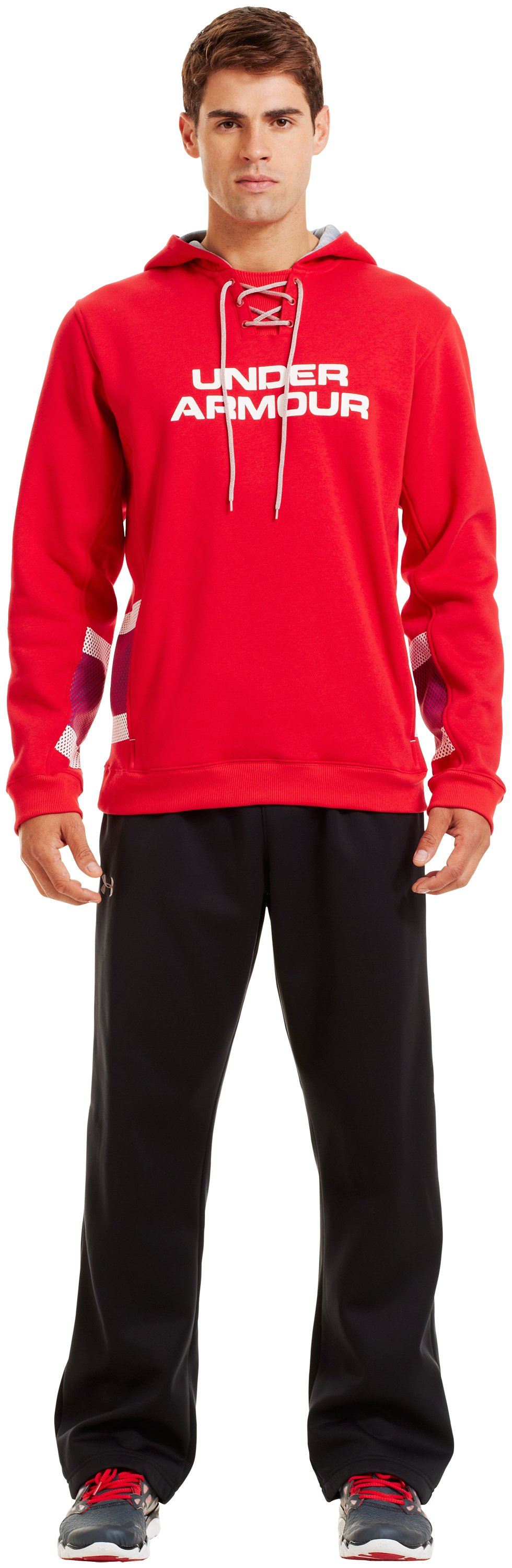 Men's Charged Cotton® Storm Chuck-A-Puck Hoodie, Red, Front