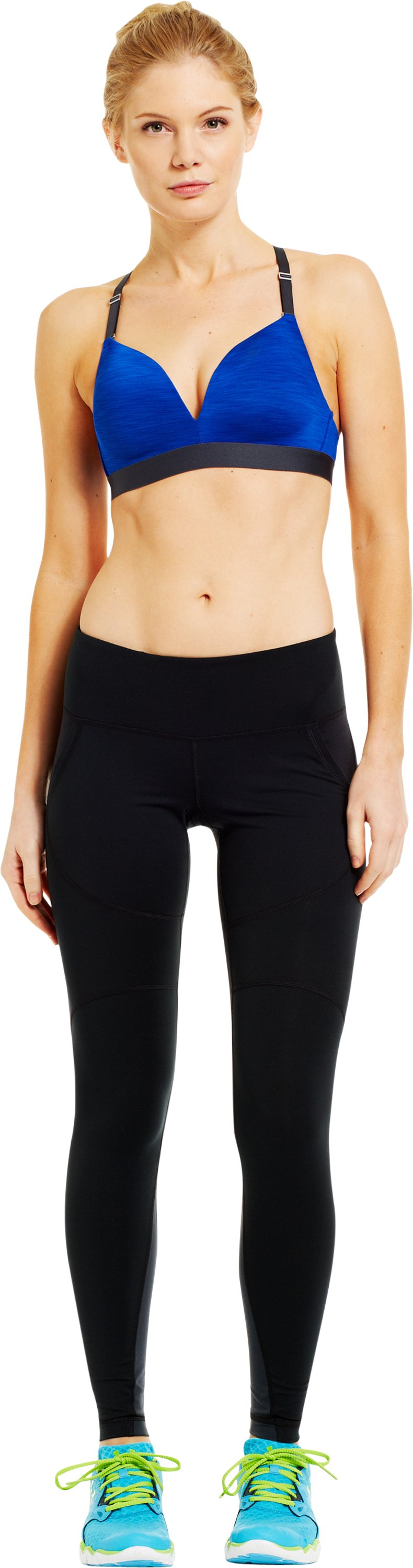 Women's UA Perfect Pocket Legging, Black , Front
