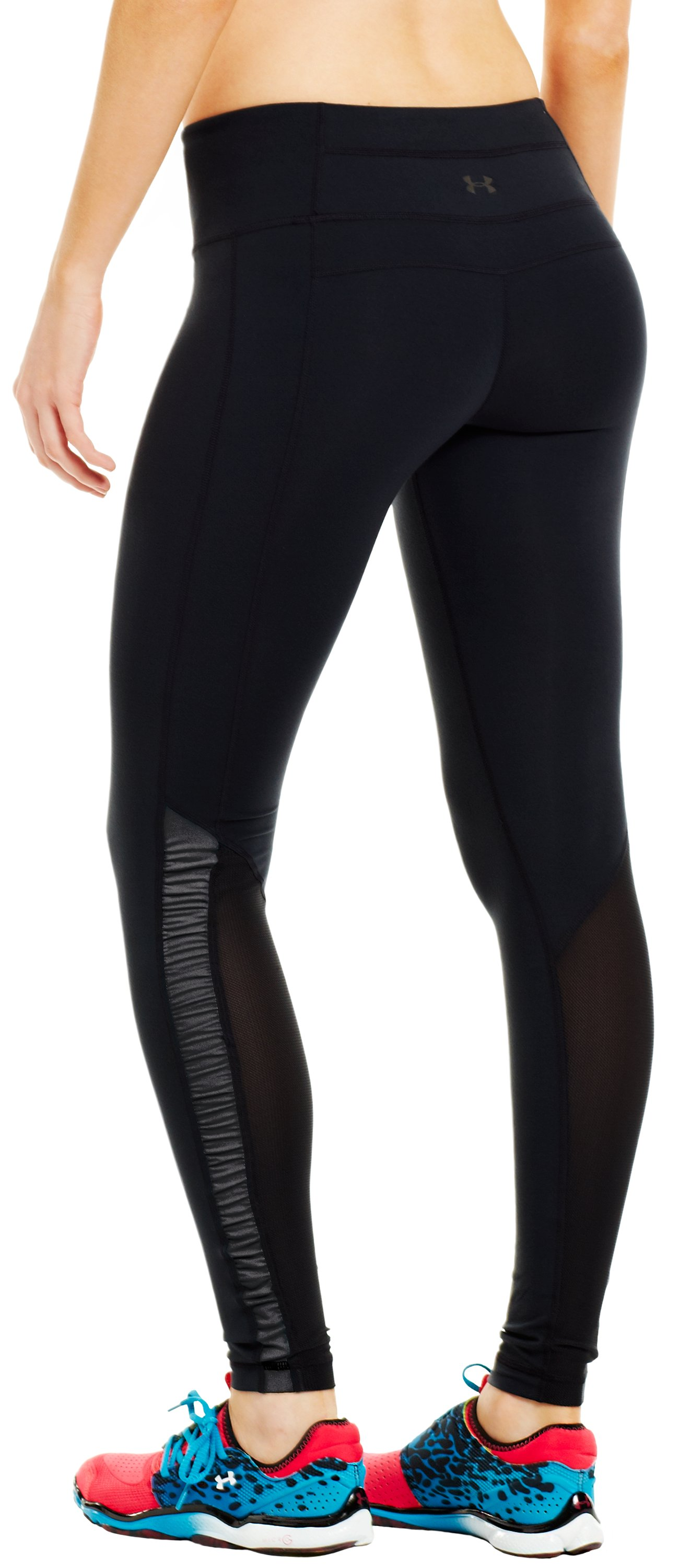 Women's UA Perfect Stripe Legging, Black , zoomed image